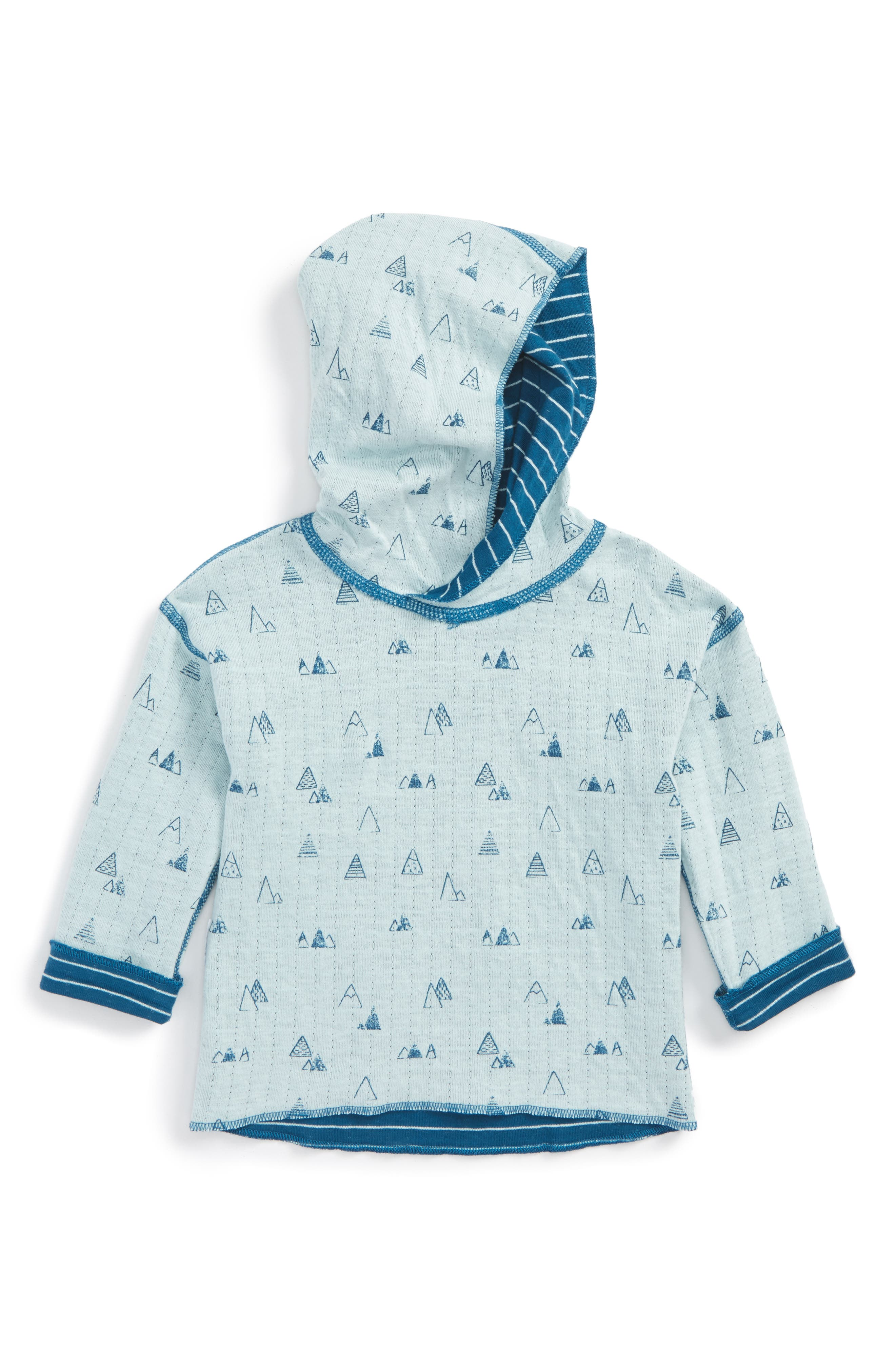 Alternate Image 2  - Miles Baby Reversible Hooded Pullover (Baby Boys)