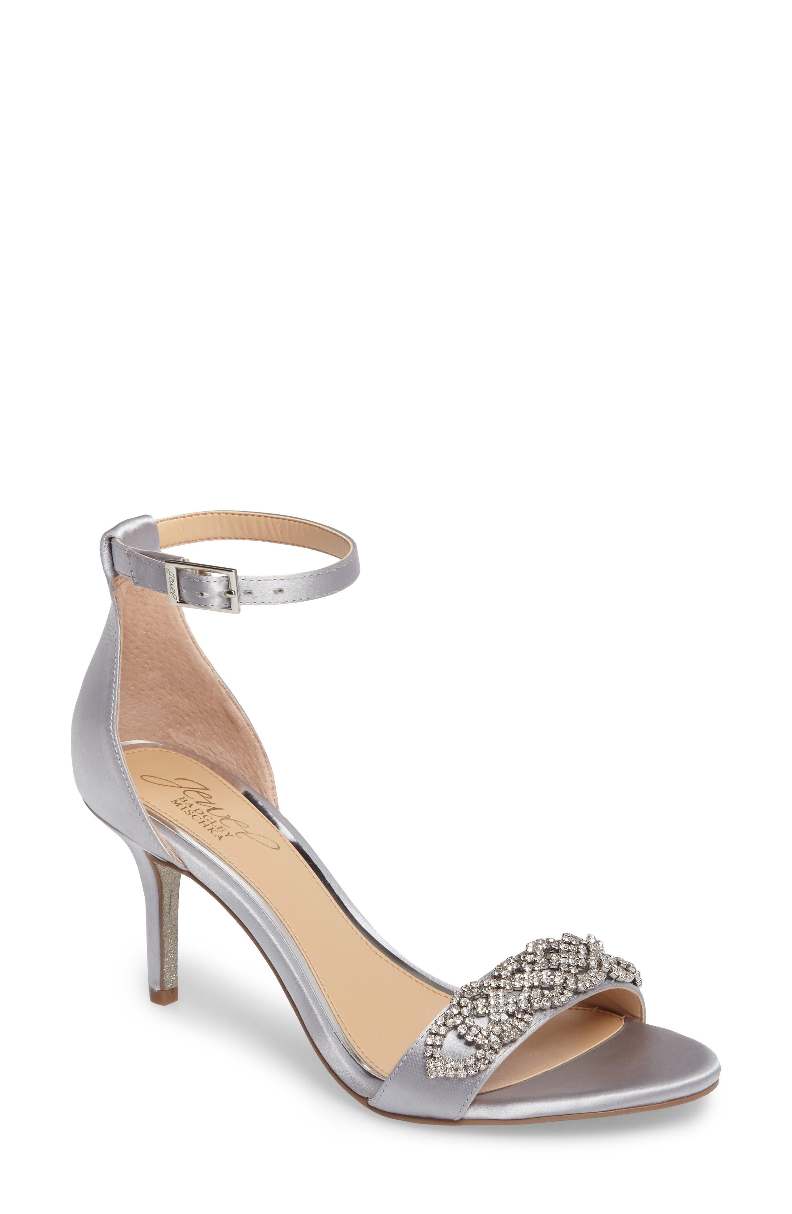 Jewel Badgley Mischka Alana Ankle Strap Sandal (Women)