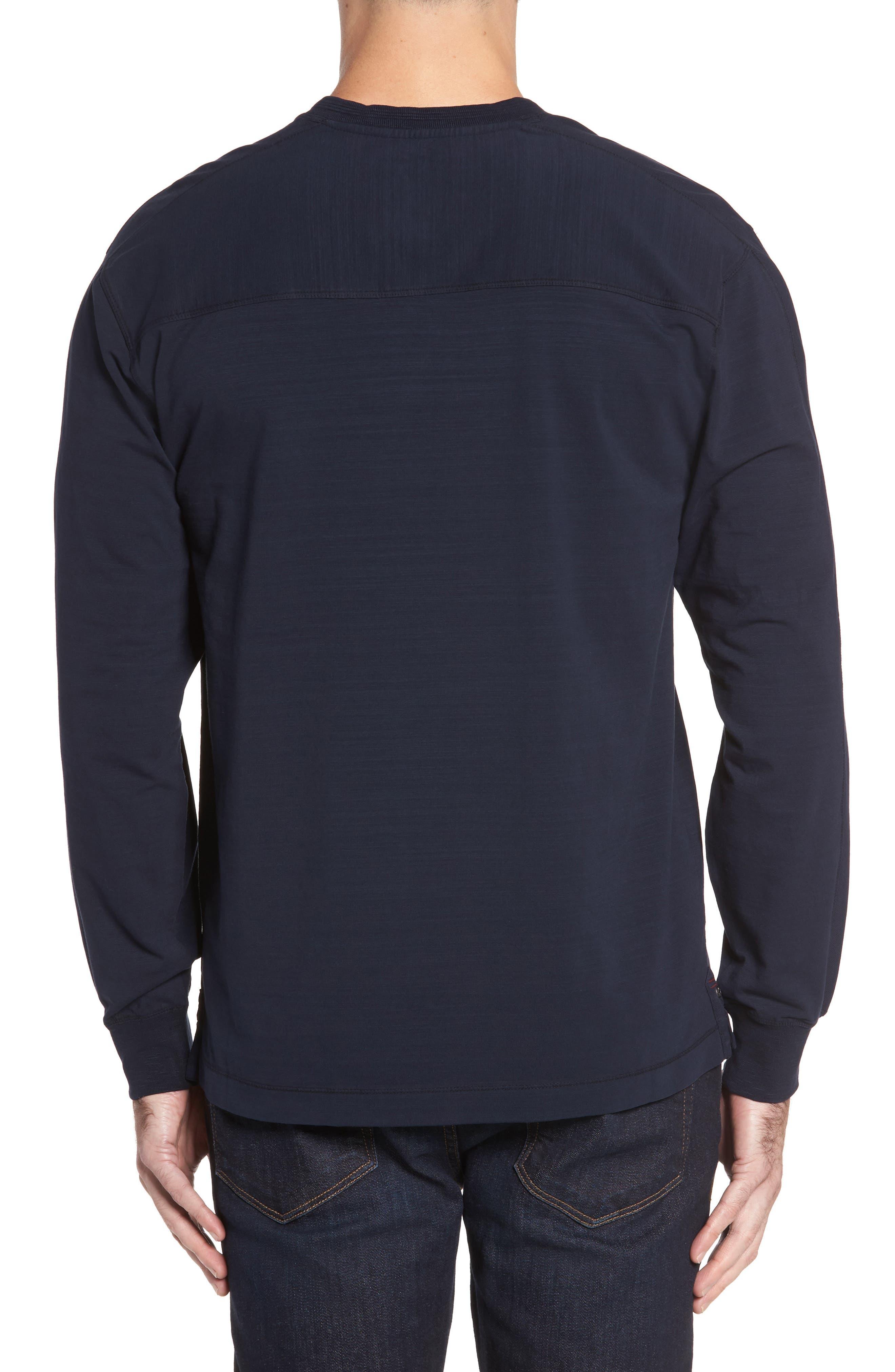 Vinn Slubbed Long Sleeve V-Neck T-Shirt,                             Alternate thumbnail 2, color,                             Ink