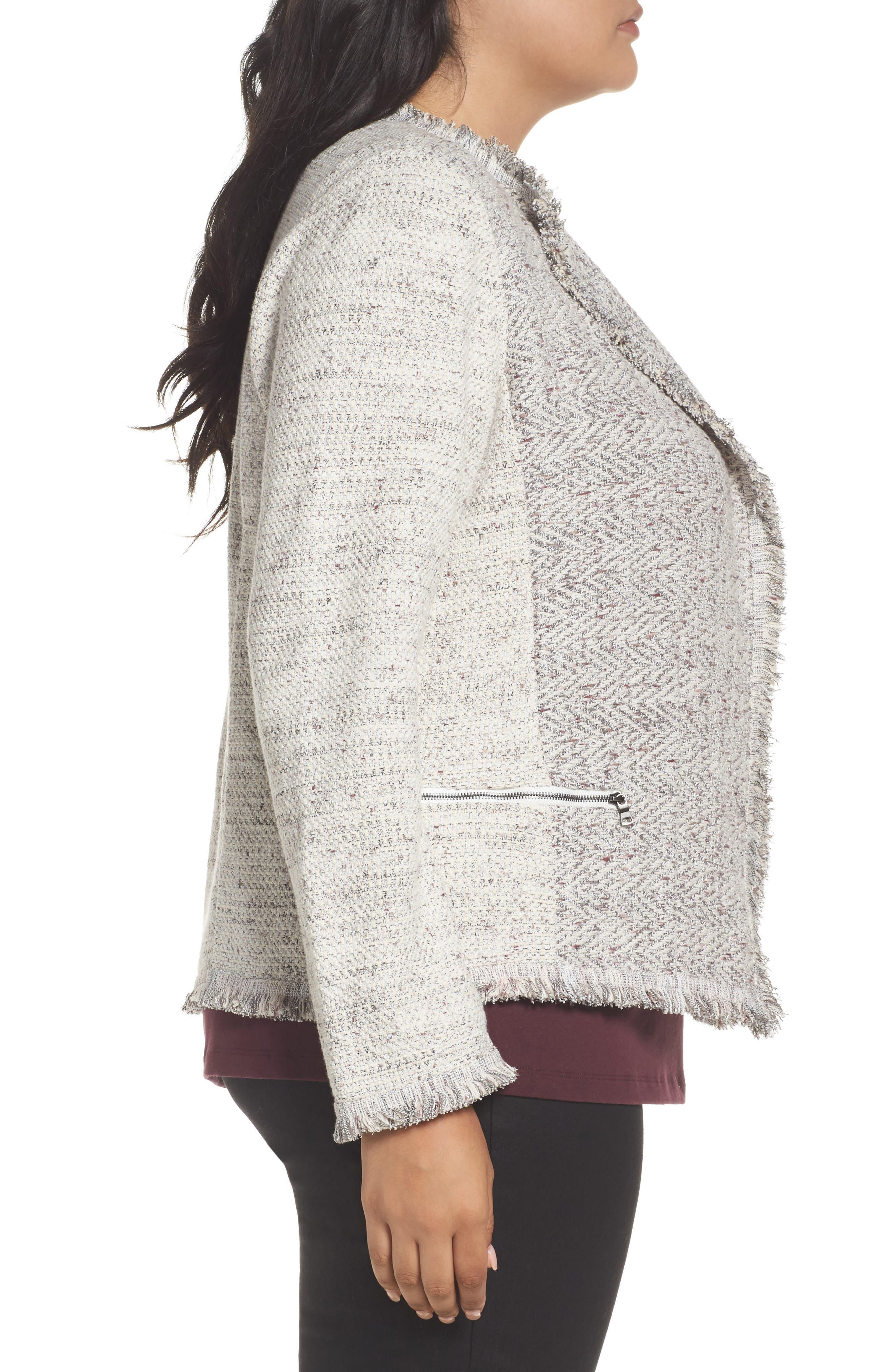 Chilled Tweed Jacket,                             Alternate thumbnail 3, color,                             Grey Multi