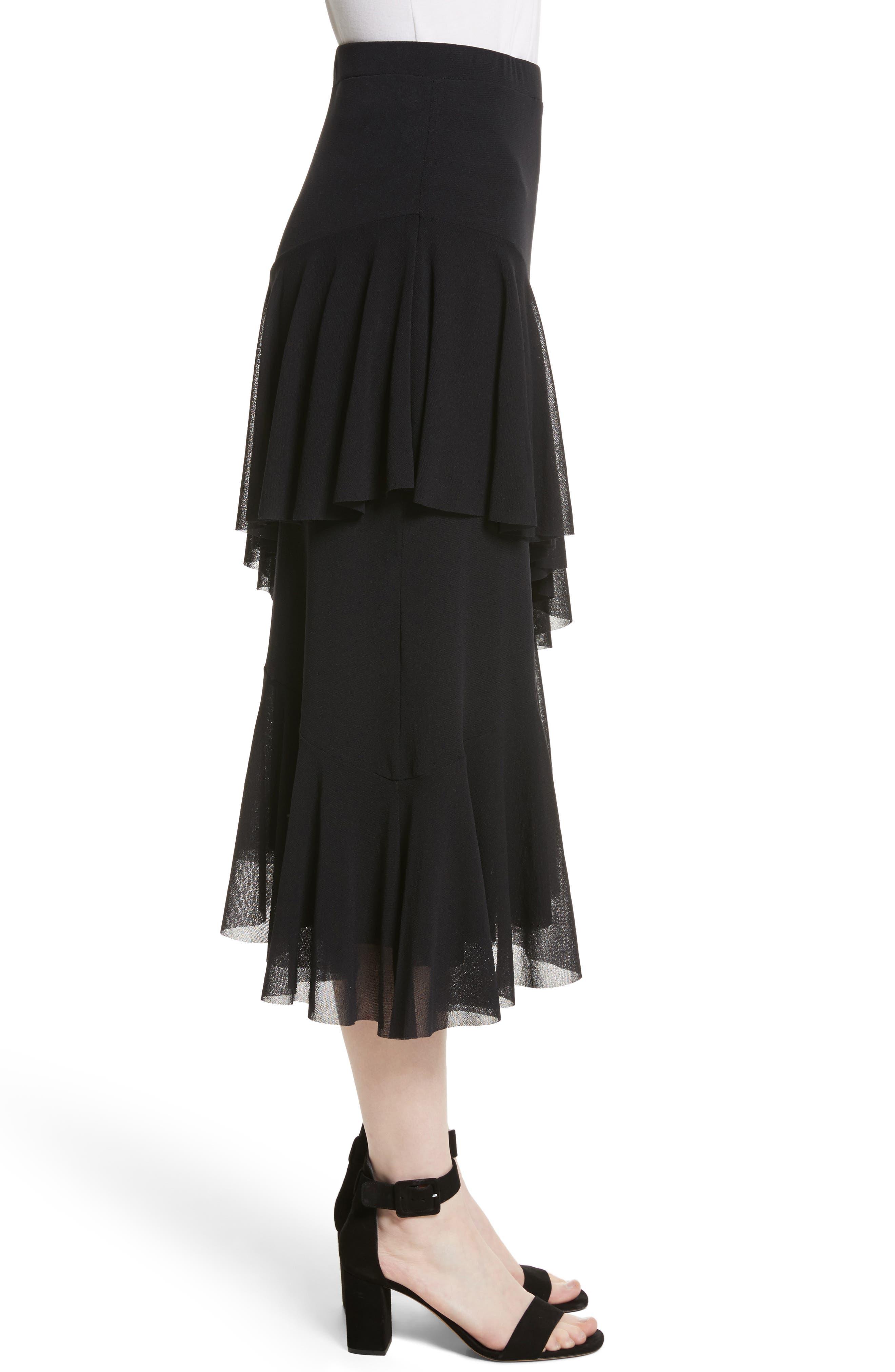 Alternate Image 3  - Fuzzi Ruffle Tulle Midi Skirt