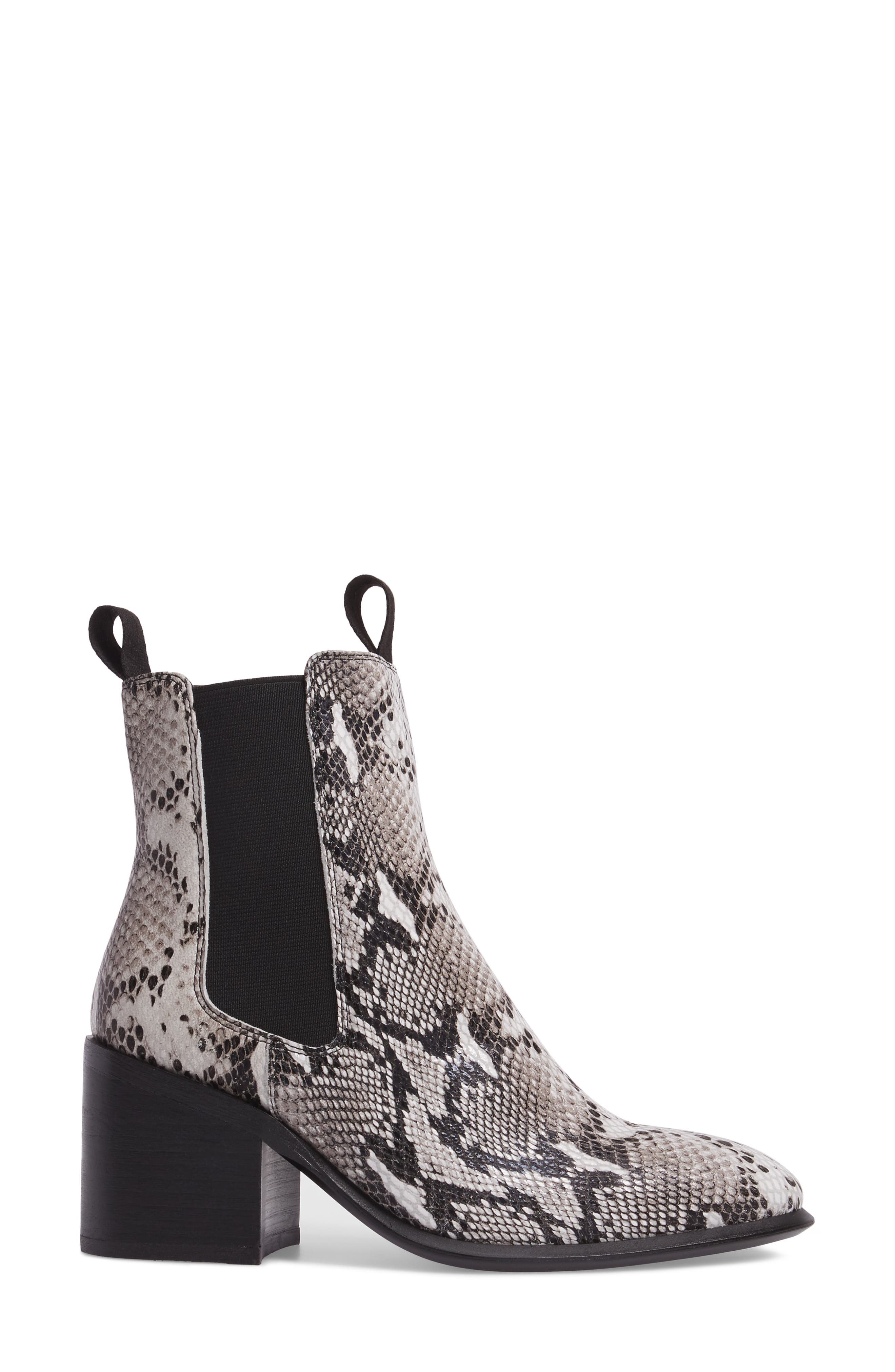Hampton Bootie,                             Alternate thumbnail 3, color,                             Natural Snake Print Leather
