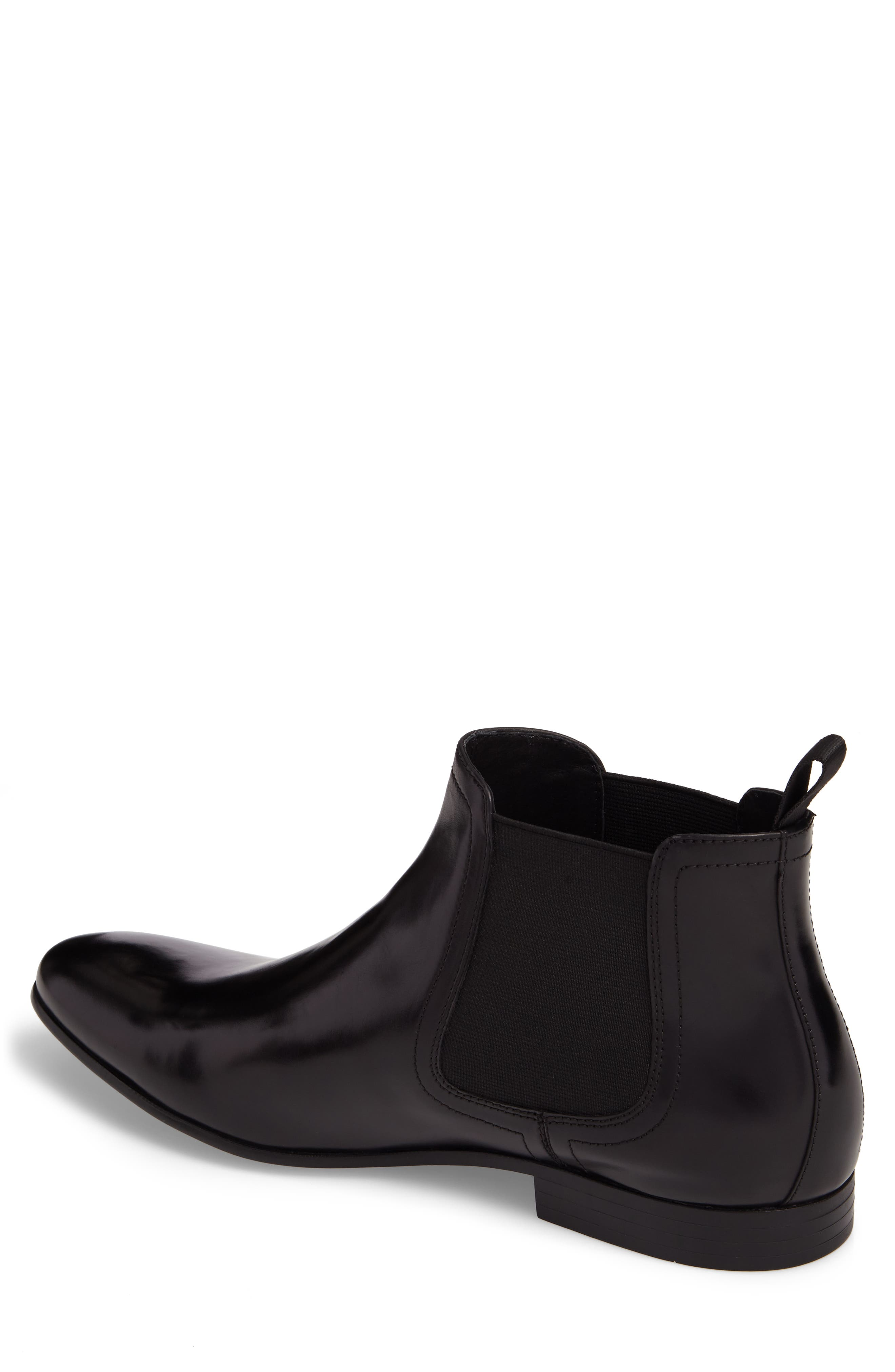 Chelsea Boot,                             Alternate thumbnail 2, color,                             Black Leather
