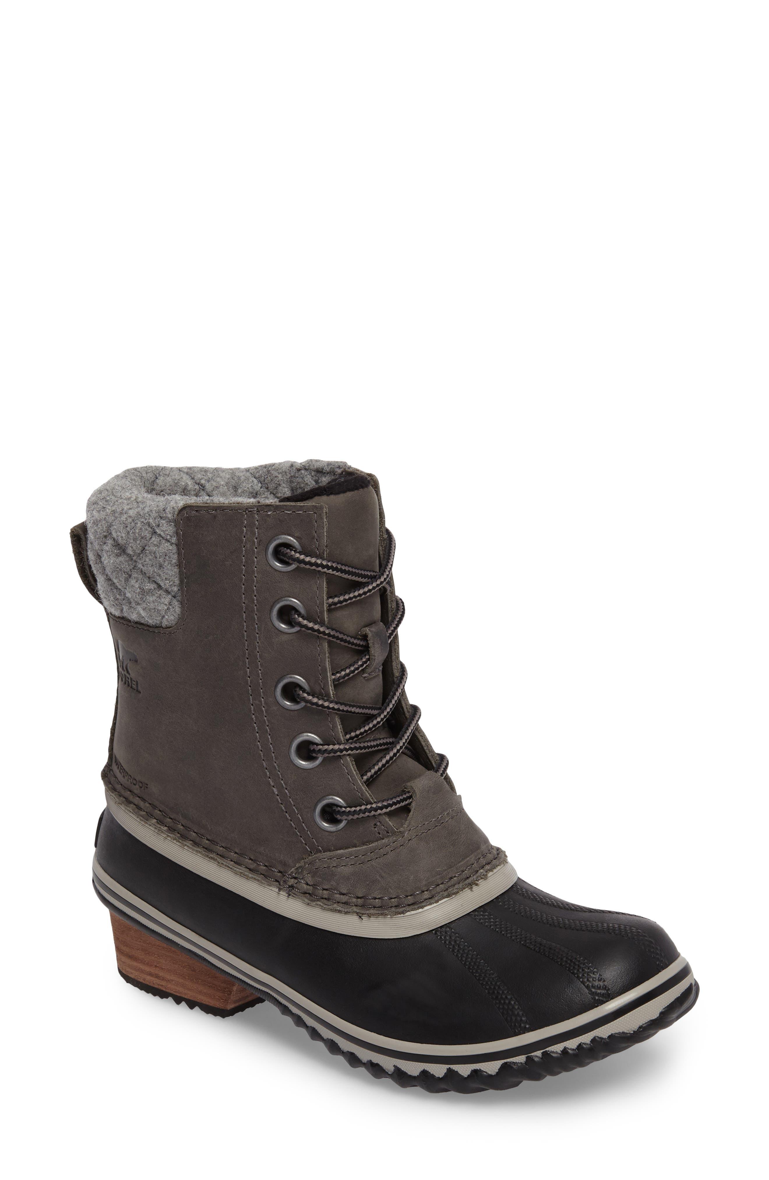Slimpack II Waterproof Boot,                             Main thumbnail 1, color,                             Quarry/ Black