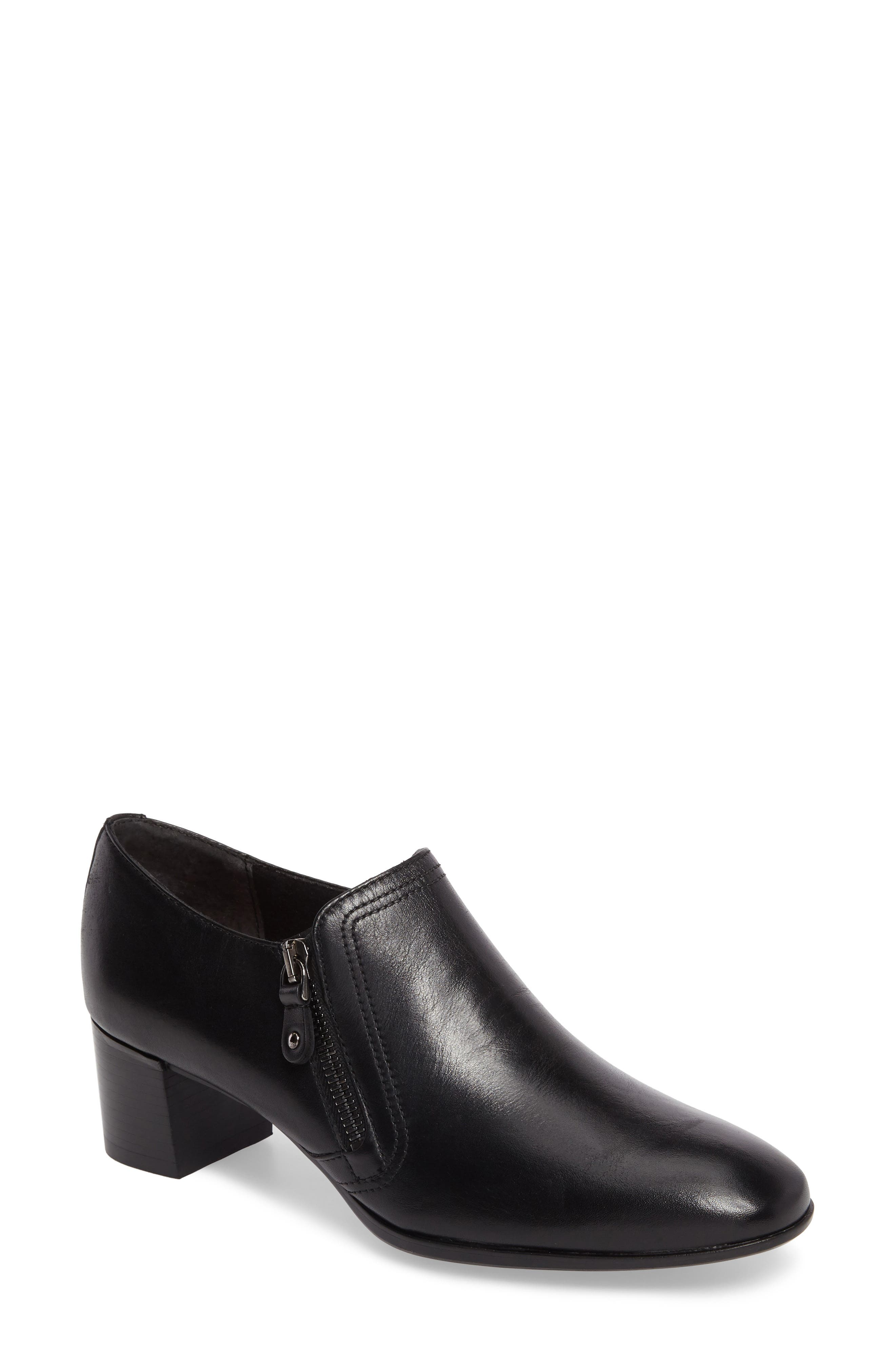 Annee Pump,                         Main,                         color, Black Leather