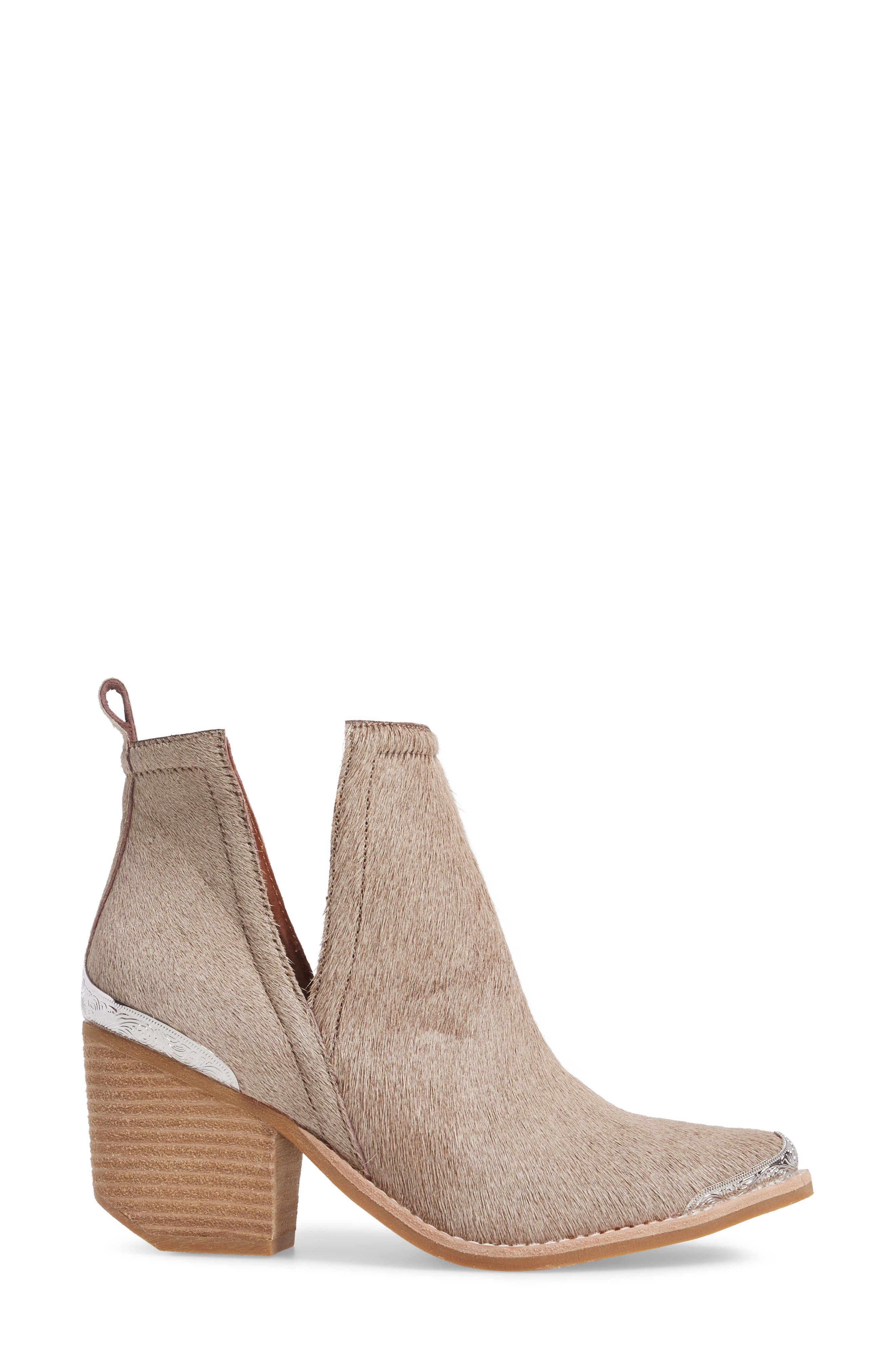 Alternate Image 3  - Jeffrey Campbell Cromwell Cutout Genuine Calf Hair Western Boot (Women)