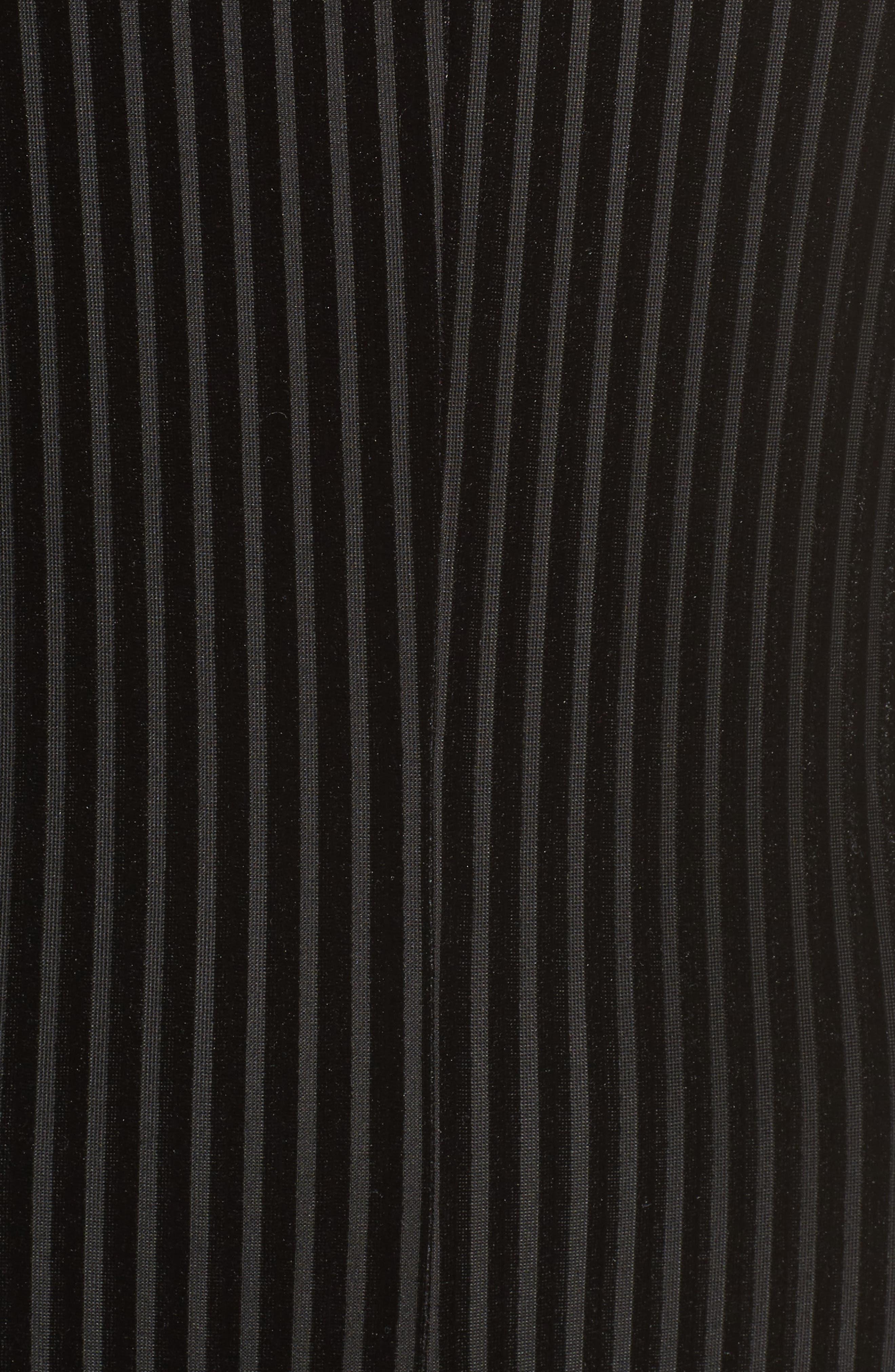 Carmen Velvet Burnout Jumpsuit,                             Alternate thumbnail 7, color,                             Black