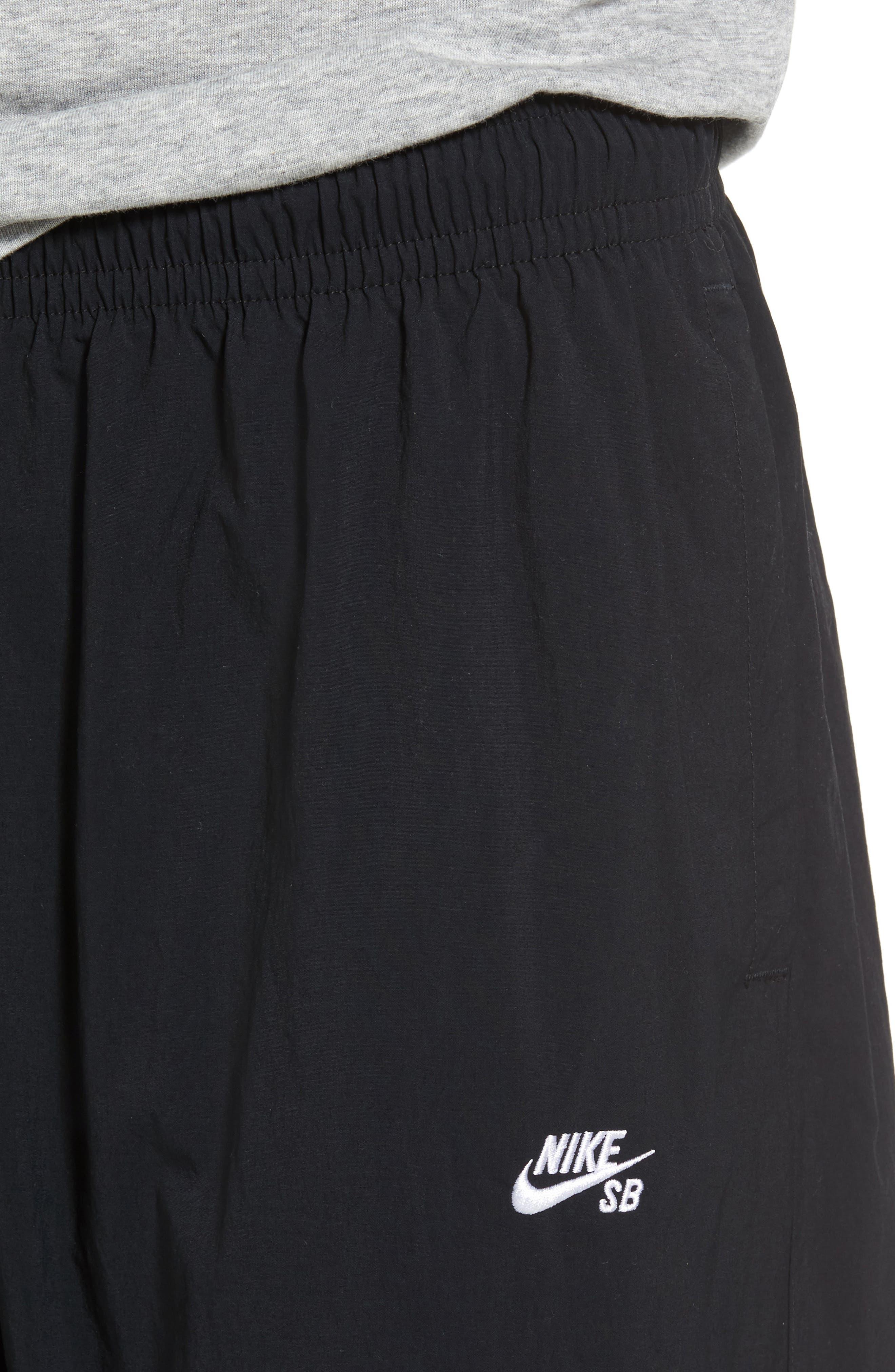 Flex Woven Pants,                             Alternate thumbnail 4, color,                             Black/ White