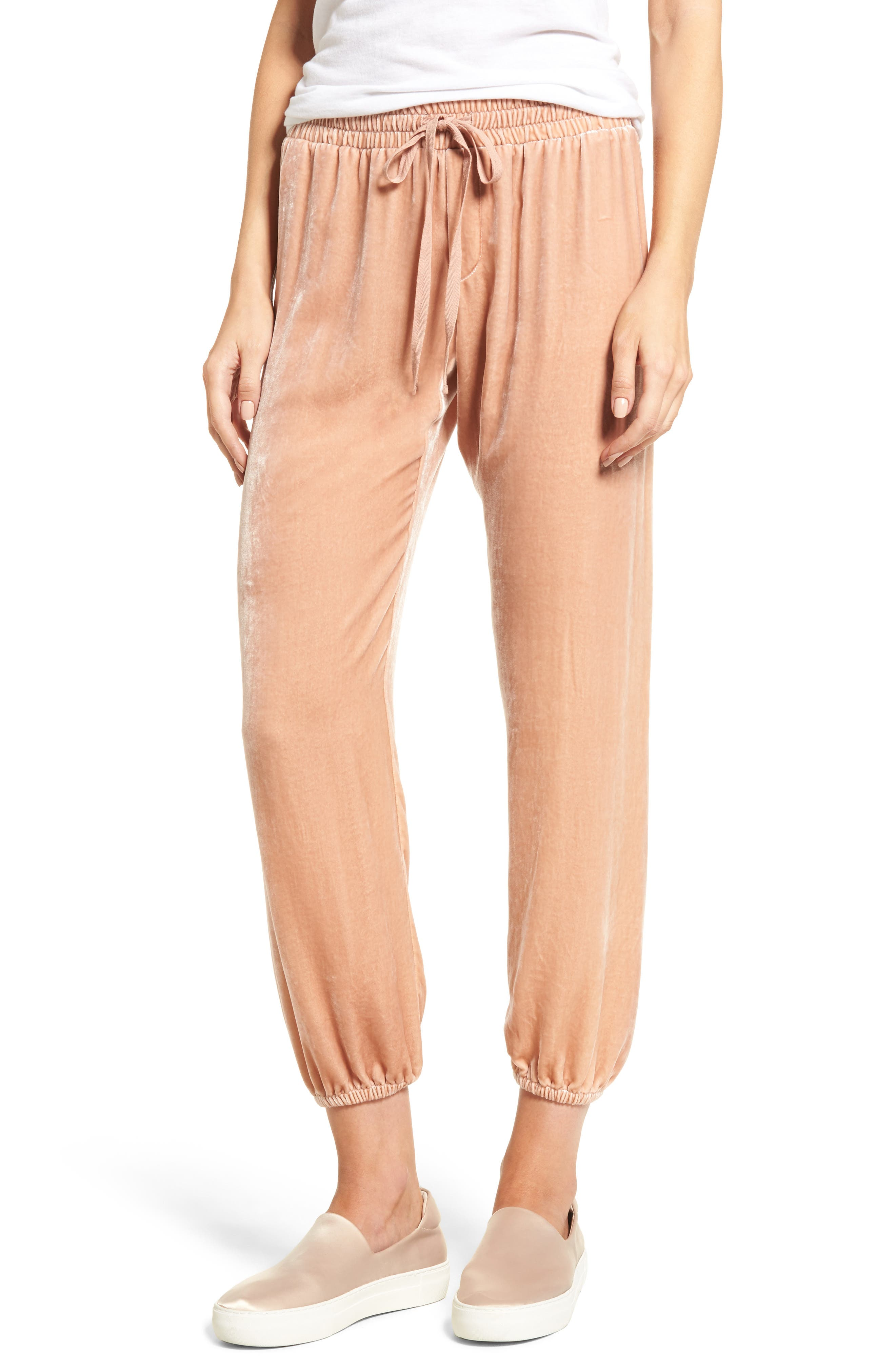 The Eden Jogger Pants,                         Main,                         color, Muted Misty Rose
