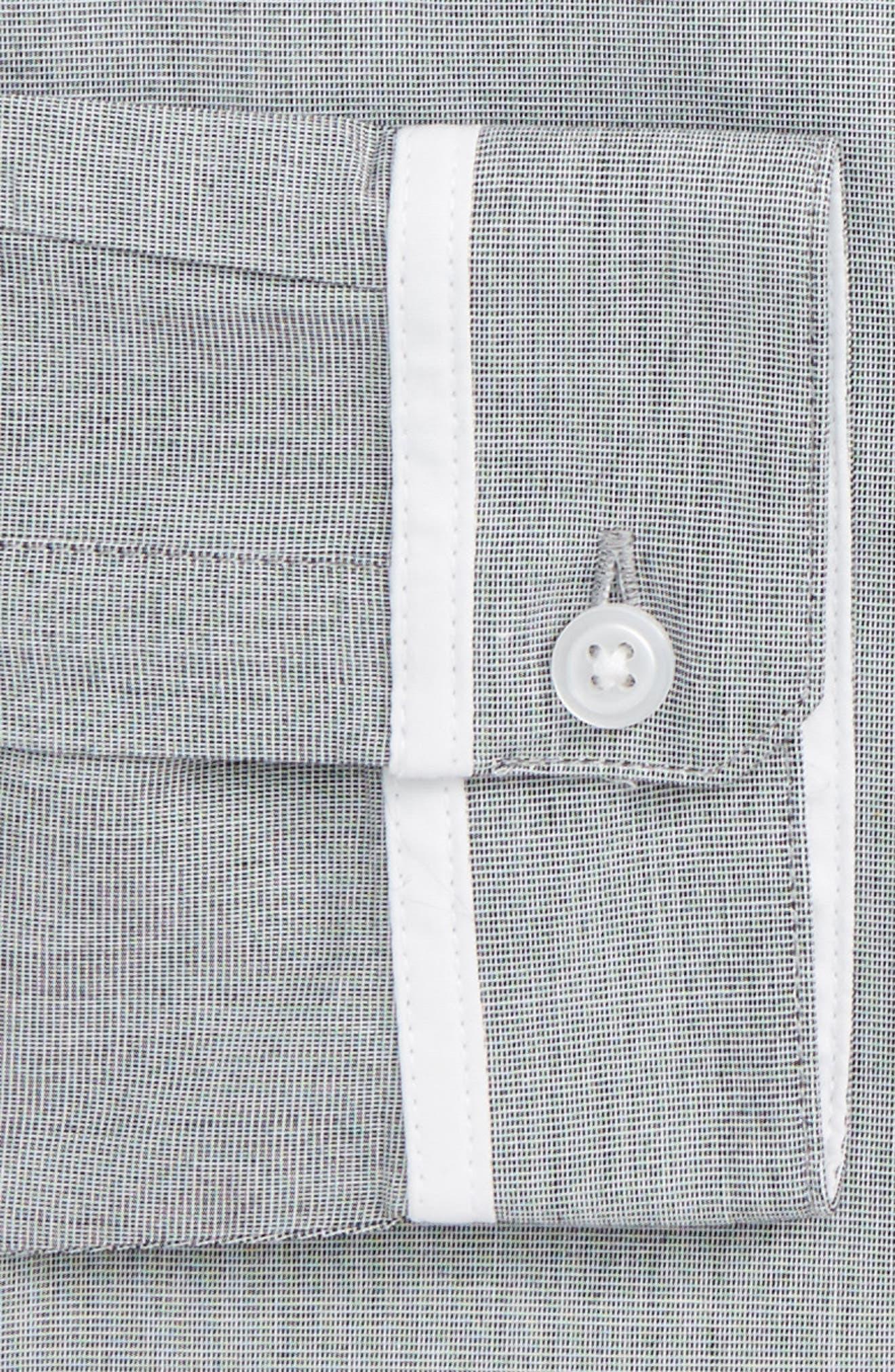 Alternate Image 4  - Topman Leeson Slim Fit Smart Shirt