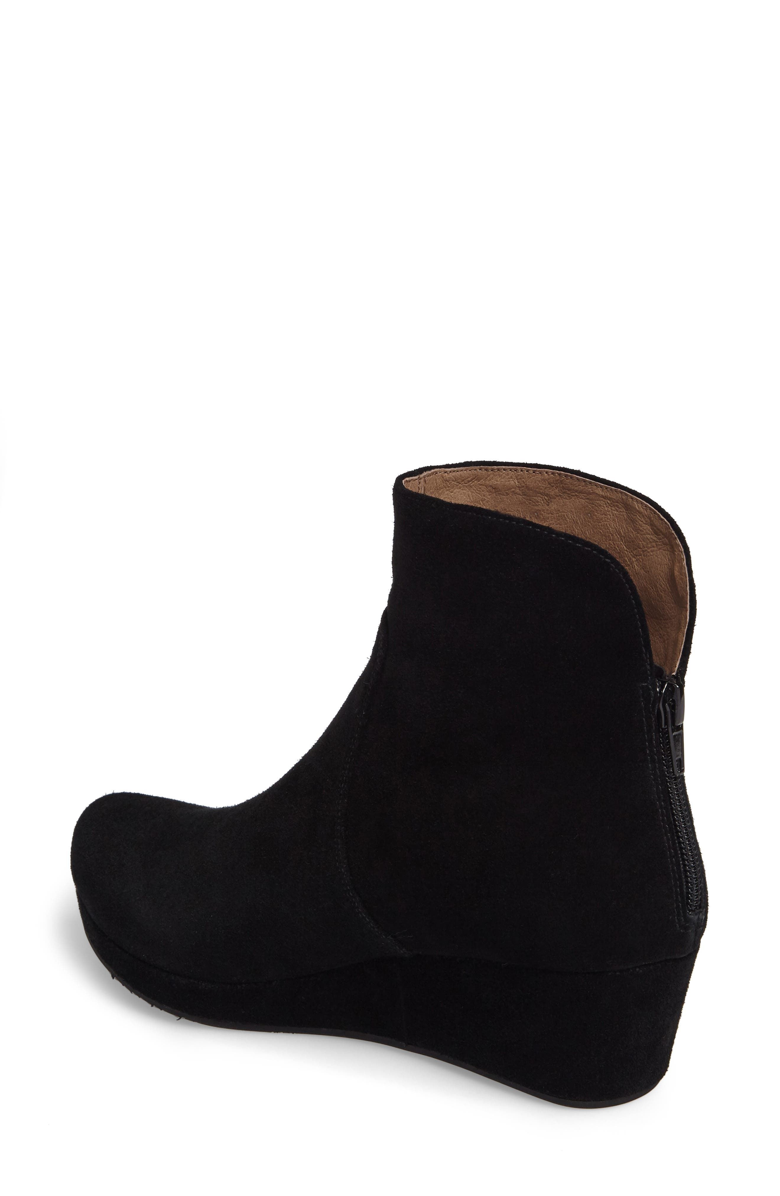 Yarden Wedge Bootie,                             Alternate thumbnail 2, color,                             Black Suede