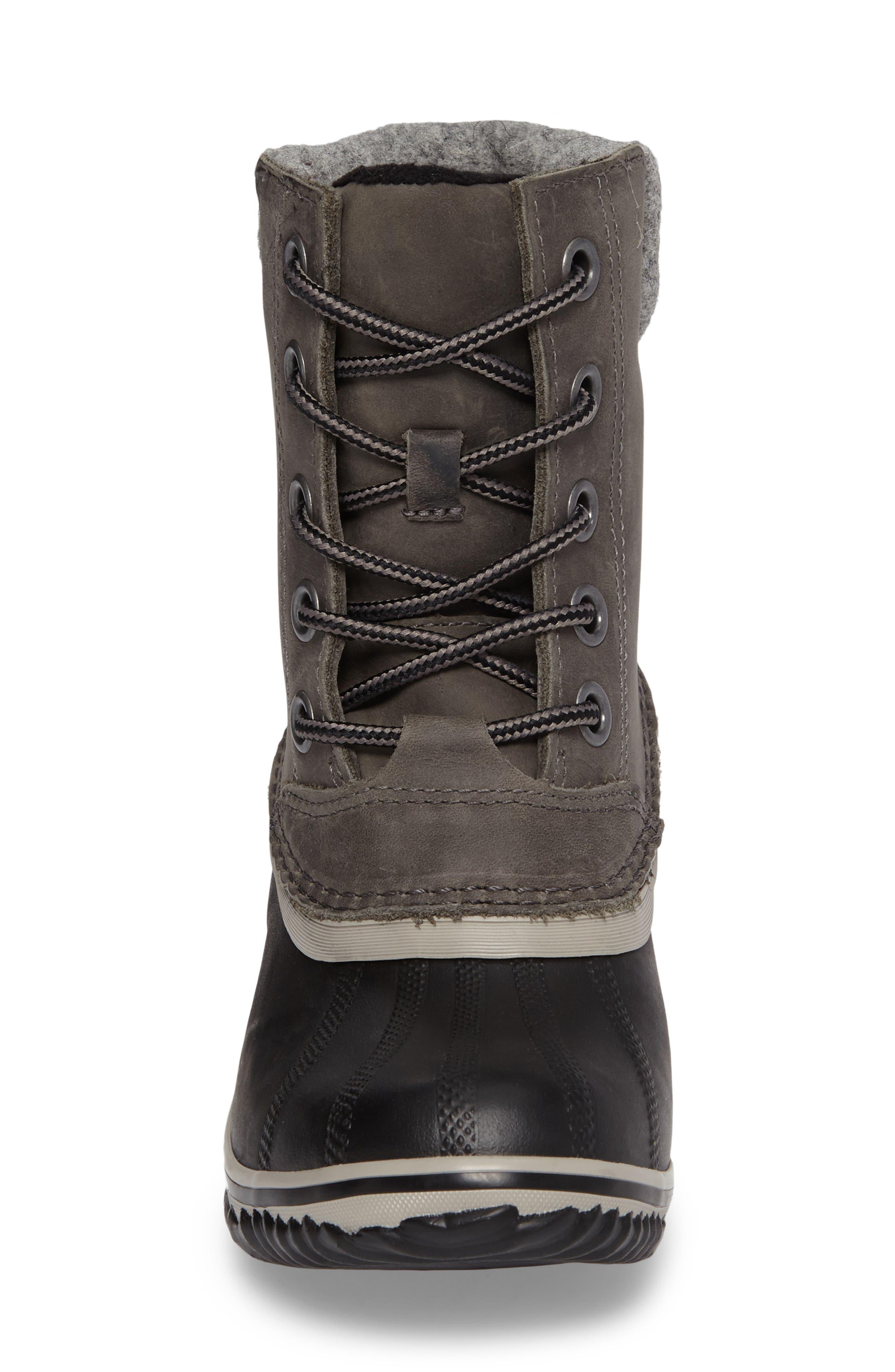Slimpack II Waterproof Boot,                             Alternate thumbnail 4, color,                             Quarry/ Black
