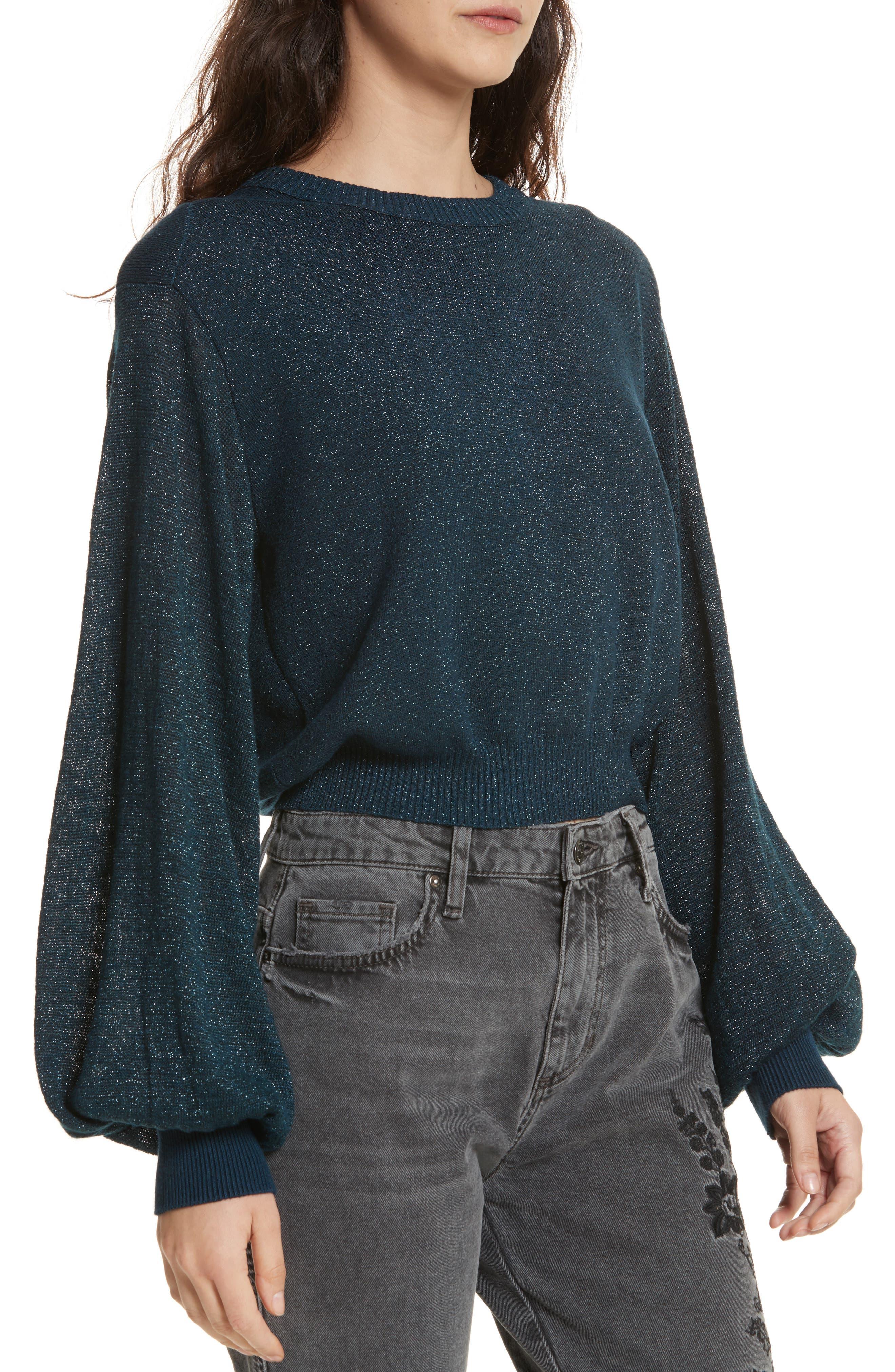 Let it Shine Sweater,                             Alternate thumbnail 4, color,                             Navy