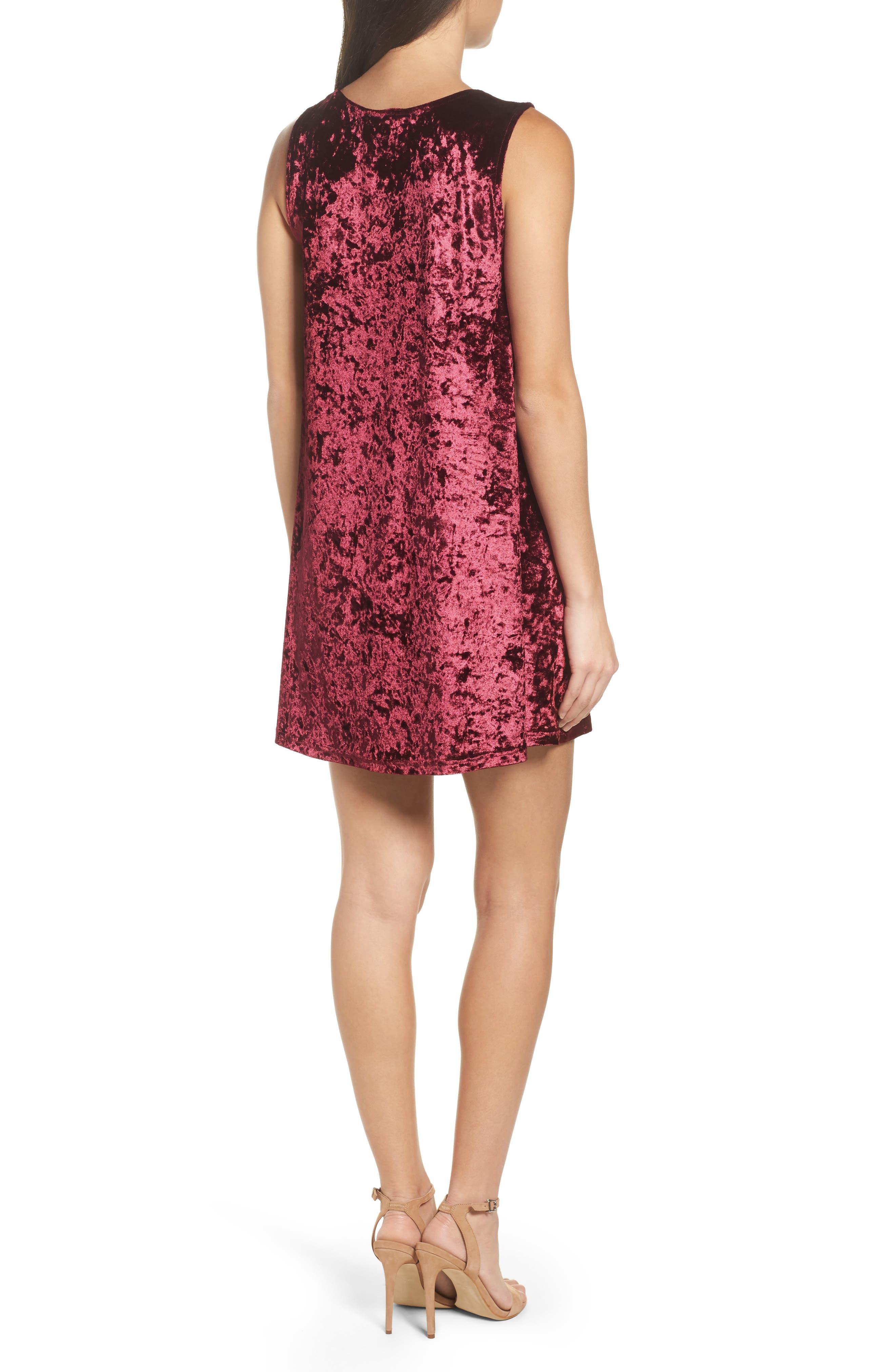 Alternate Image 2  - BB Dakota Crushed Velvet Shift Dress