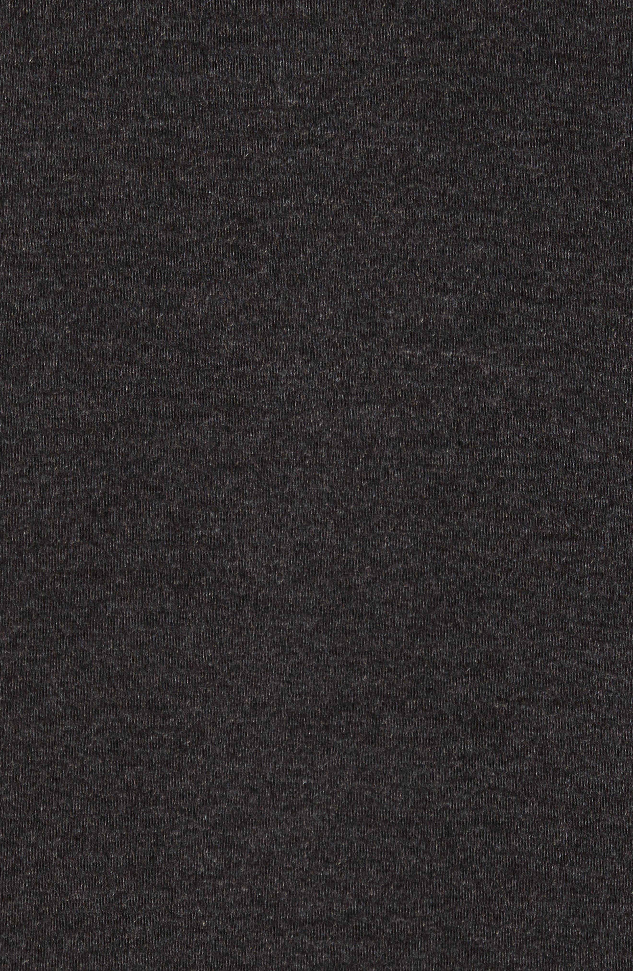 Pyrite Zip Hoodie,                             Alternate thumbnail 5, color,                             Black Oxide Heather