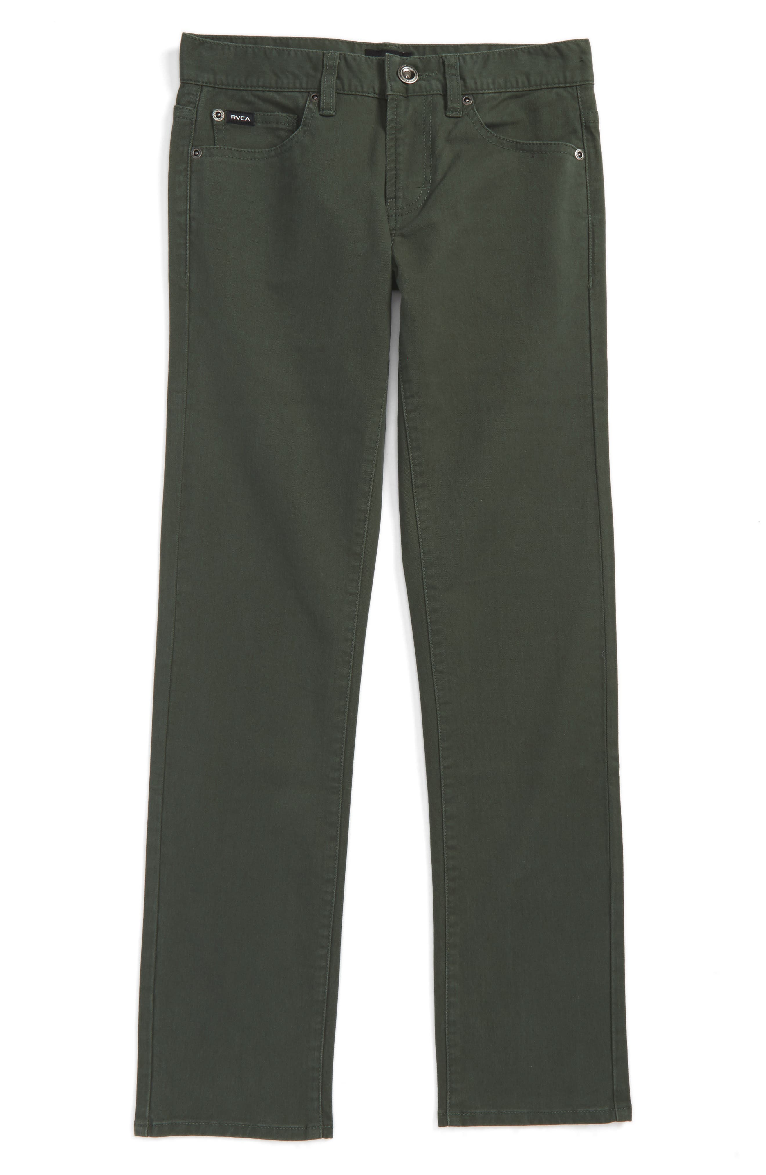 RVCA 'Daggers' Slim Fit Twill Pants (Big Boys)