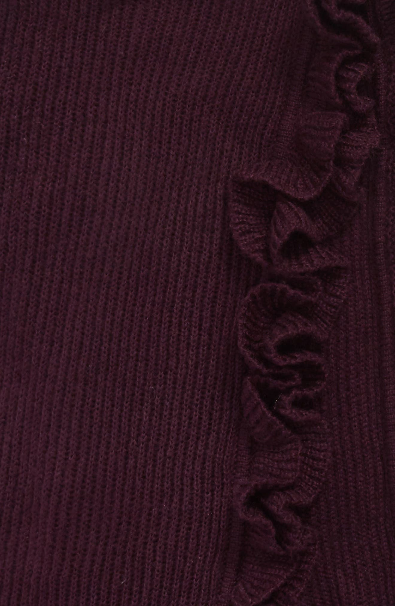 Ruffle Muffler,                             Alternate thumbnail 4, color,                             Deep Eggplant