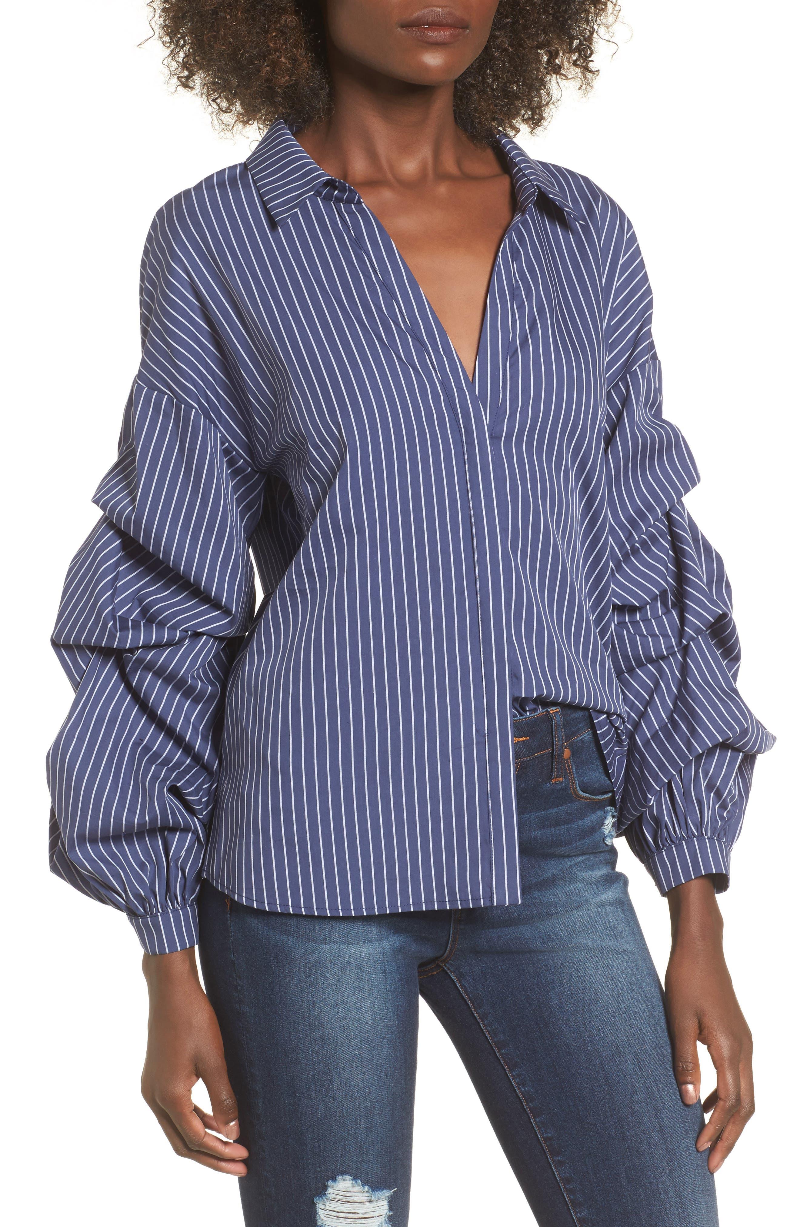 ASTR the Label Ruffle Sleeve Shirt