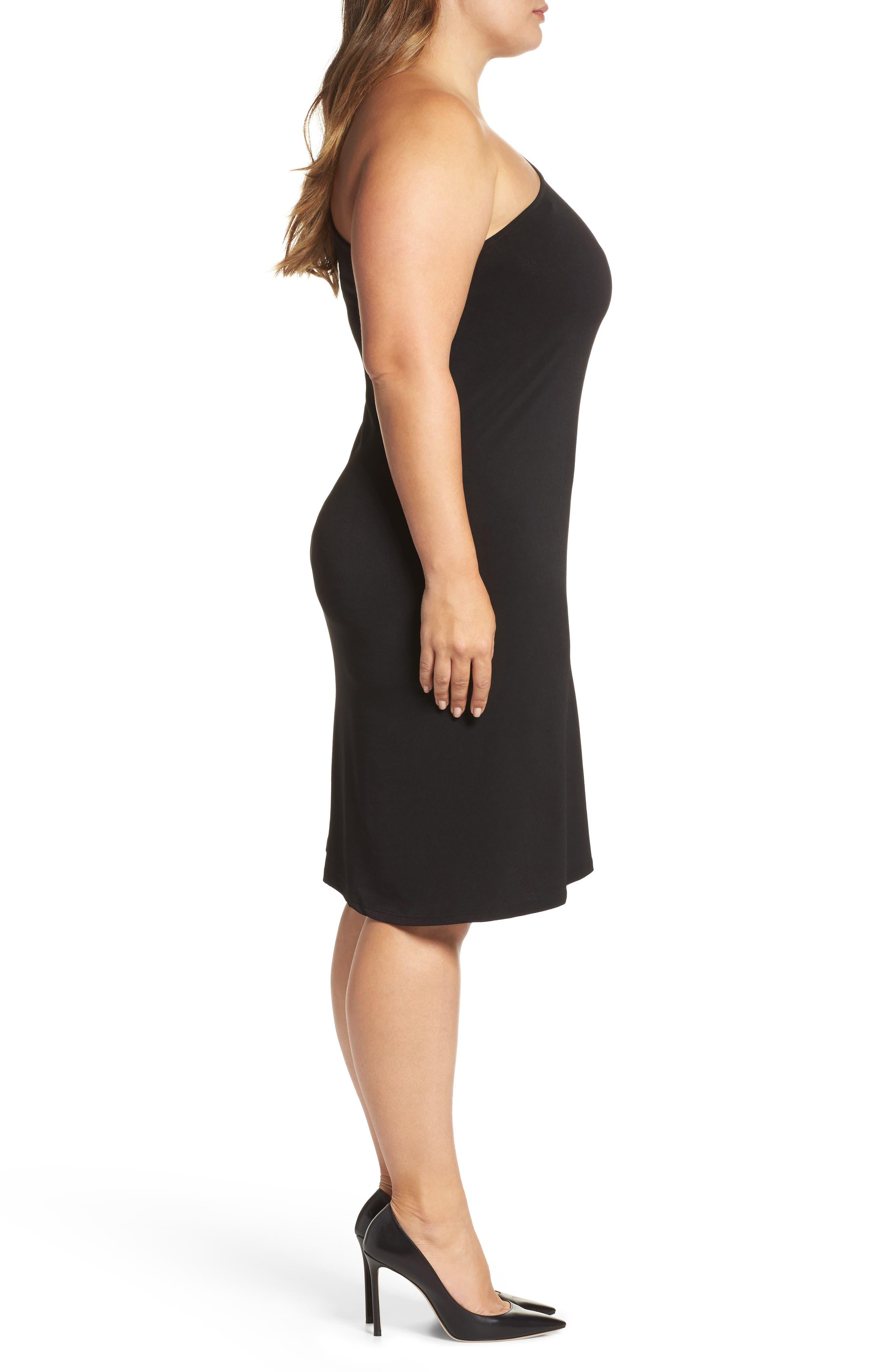 Alternate Image 3  - Leota Christina One-Shoulder Dress (Plus Size)