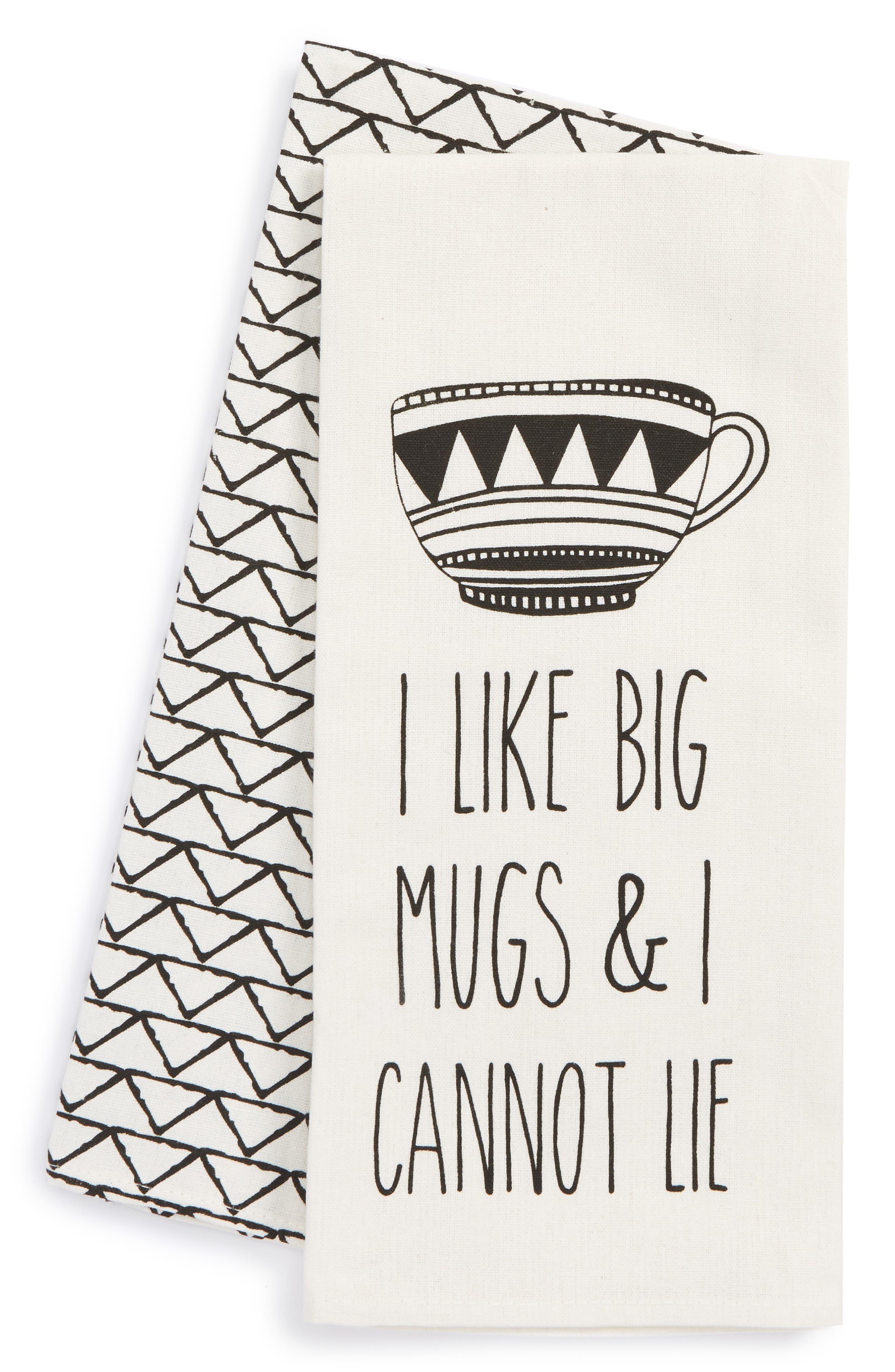 Levtex I Like Big Mugs Set of 2 Dish Towels