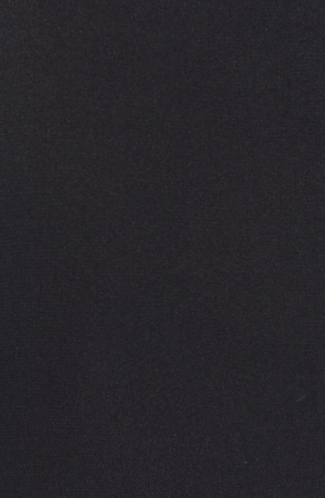 Ruffle Front Corded Lace Hem Dress,                             Alternate thumbnail 5, color,                             Black