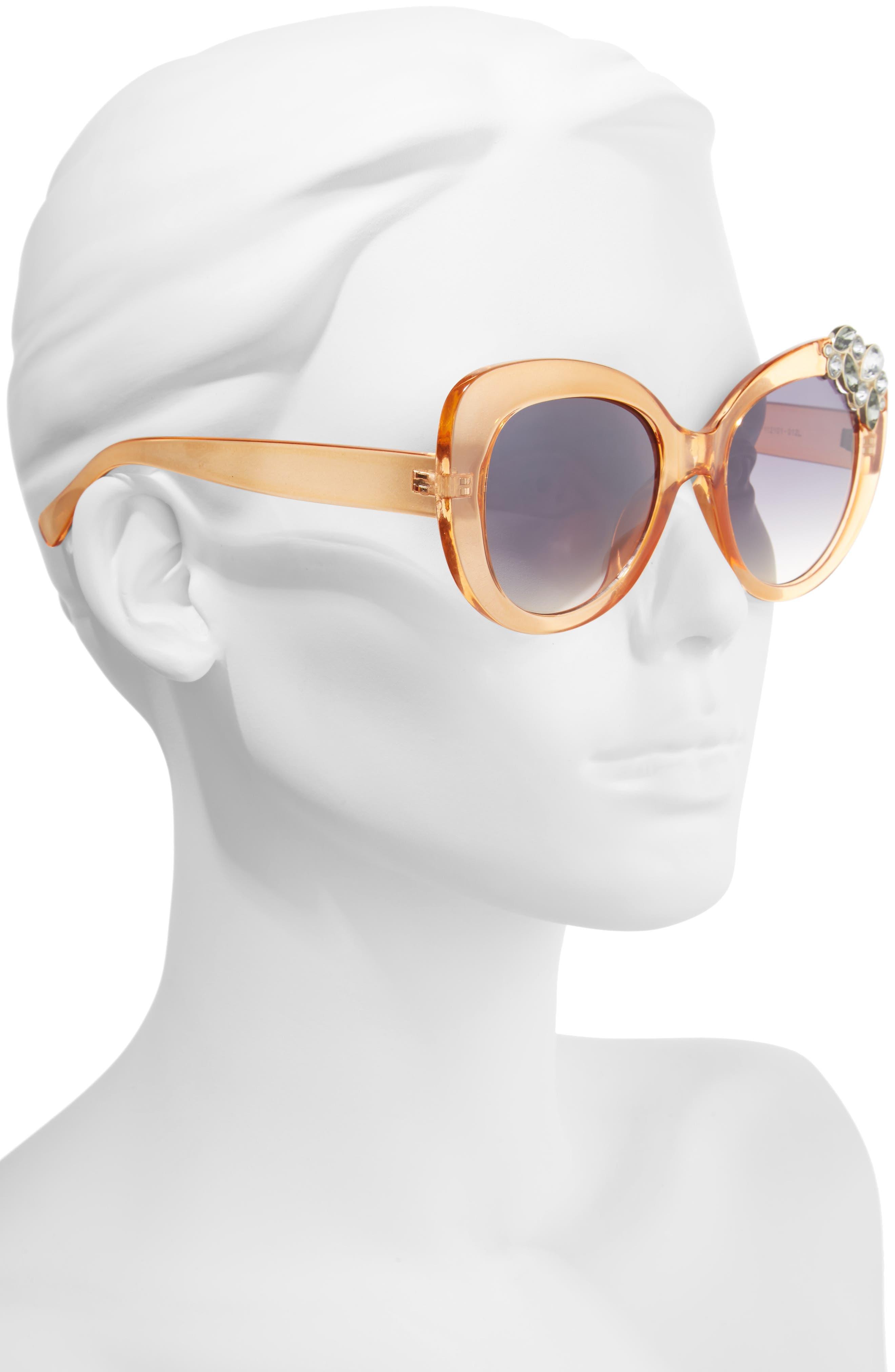 Alternate Image 2  - BP. Crystal Cat Eye Sunglasses