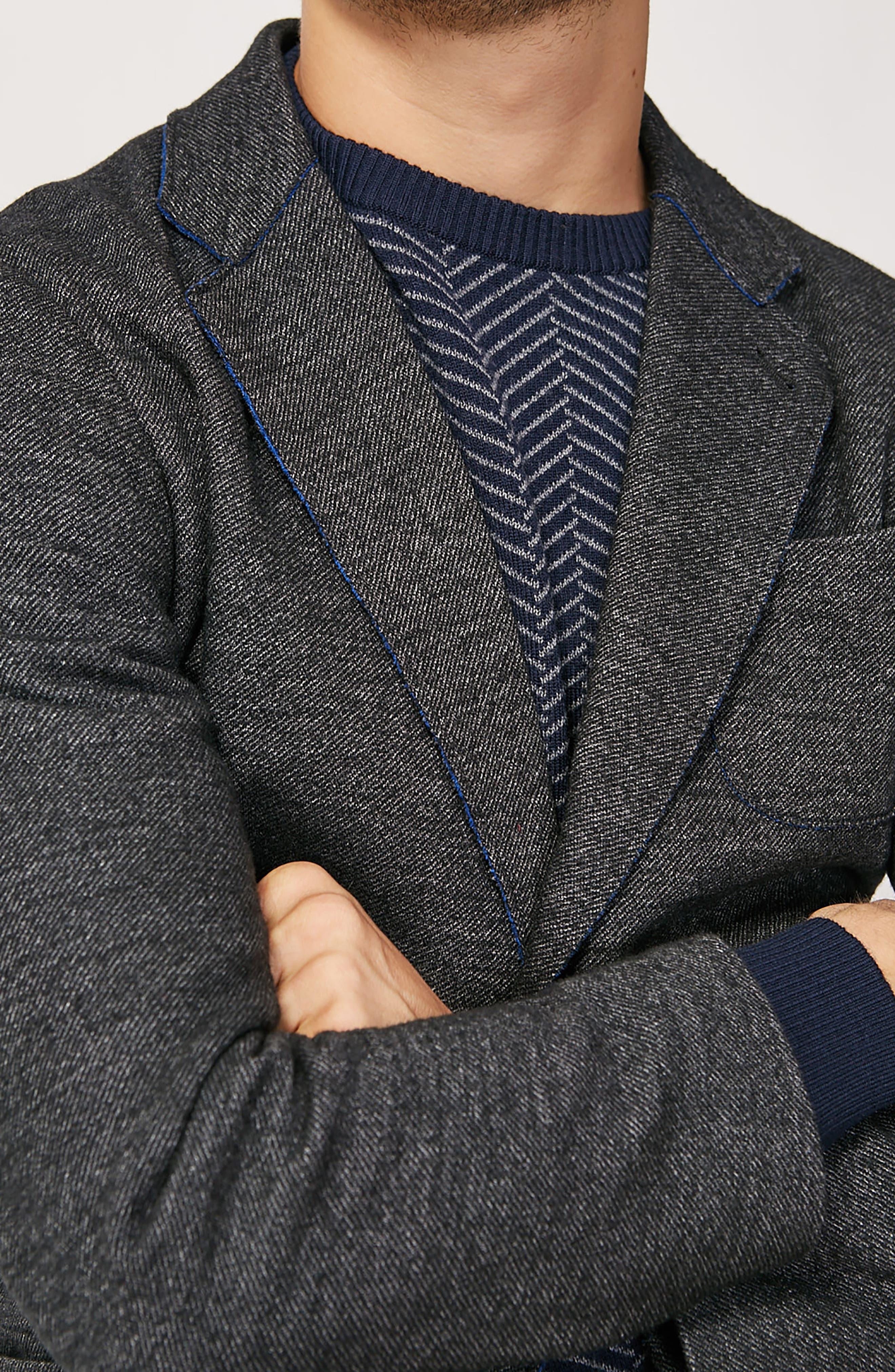 Alternate Image 8  - Bugatchi Raw Edge Cotton Blend Blazer