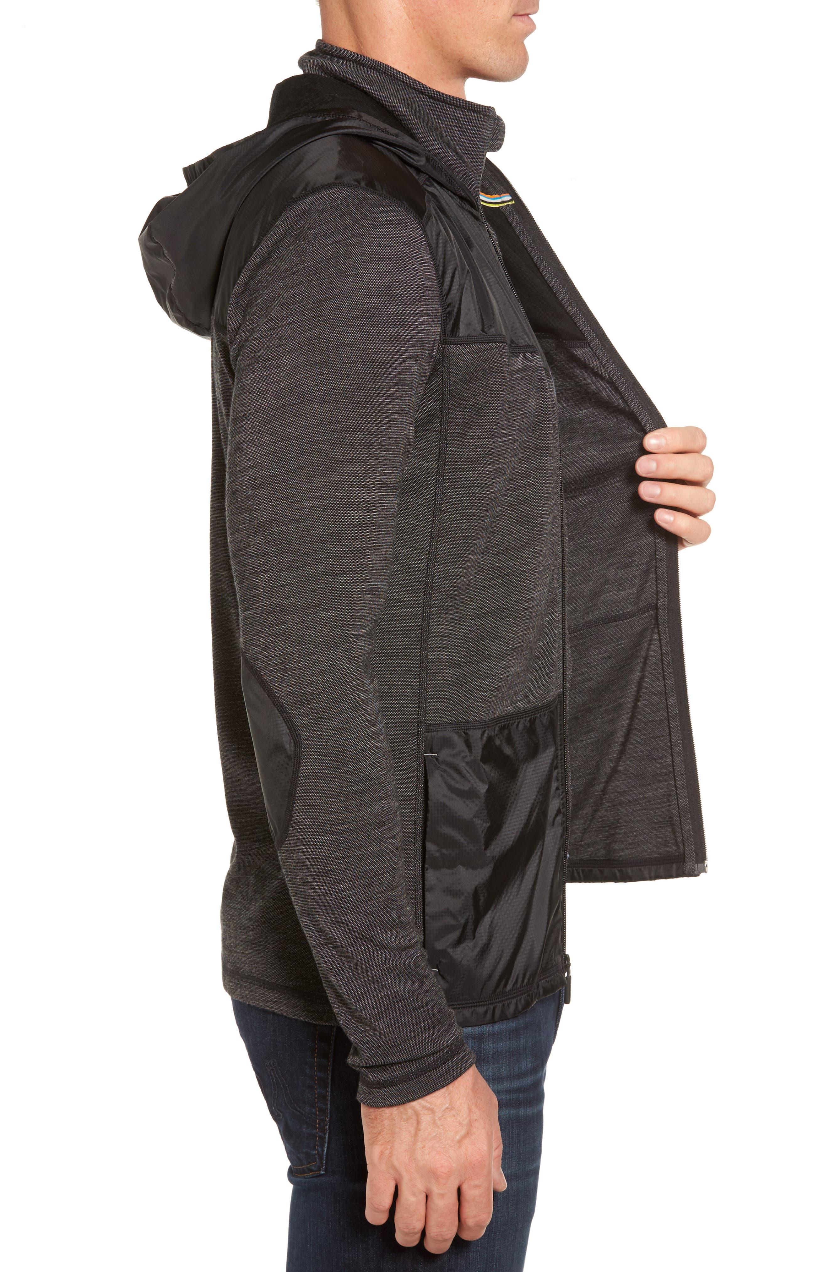 250 Sport Merino Wool Jacket,                             Alternate thumbnail 3, color,                             Black