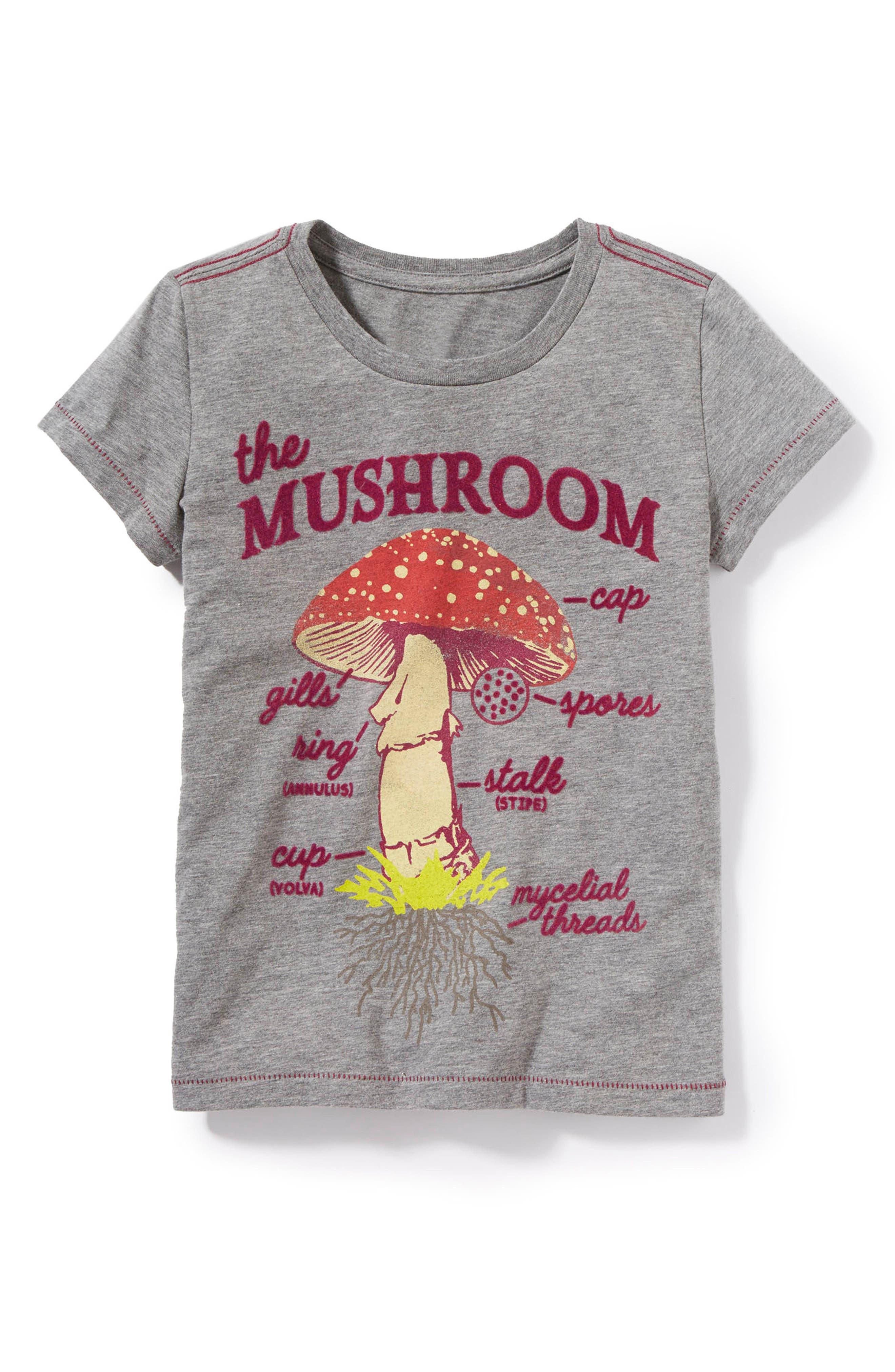 Main Image - Peek Anatomy of a Mushroom Graphic Tee (Toddler Girls, Little Girls & Big Girls)