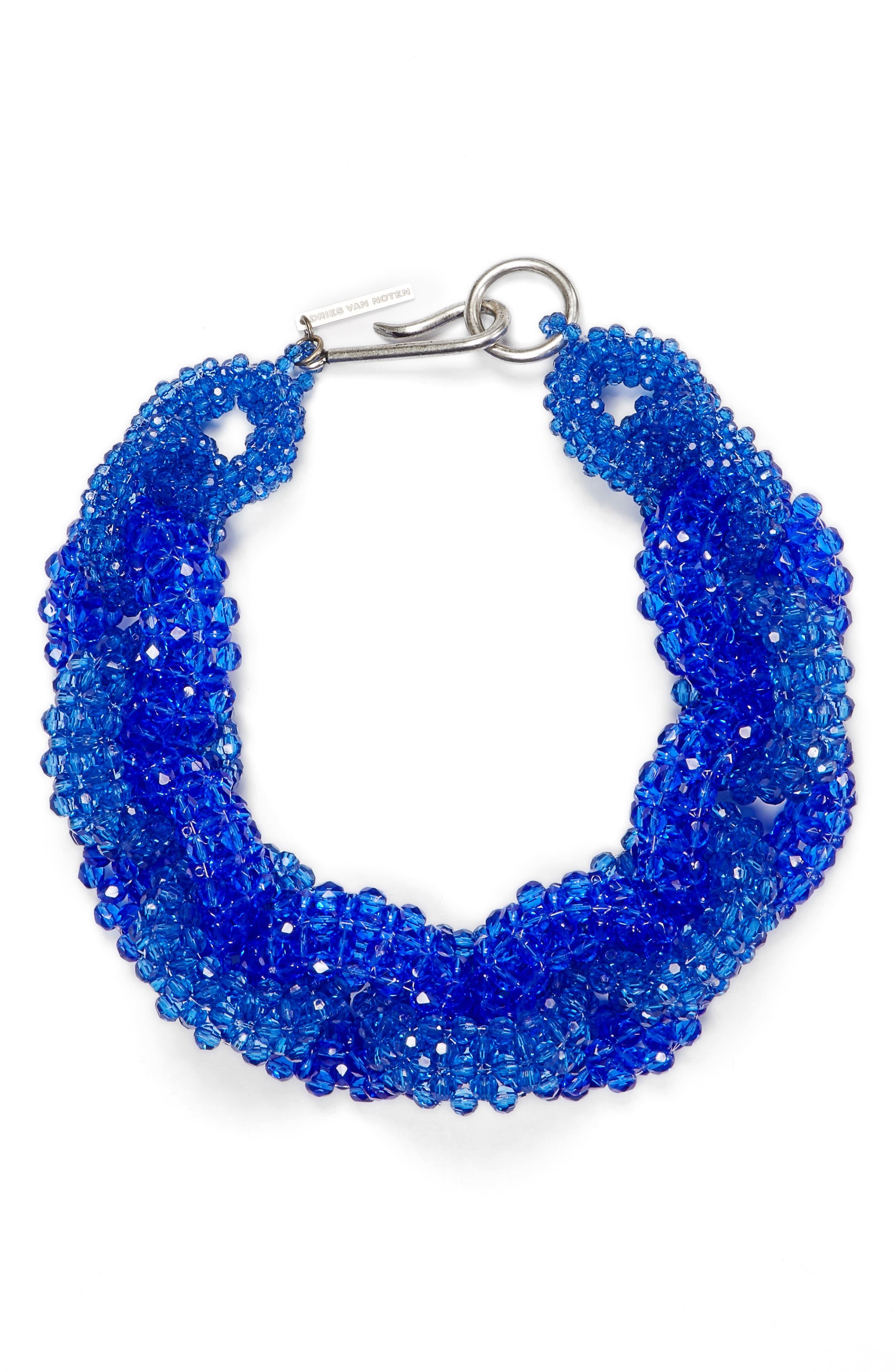 Oversize Link Necklace,                         Main,                         color, Blue