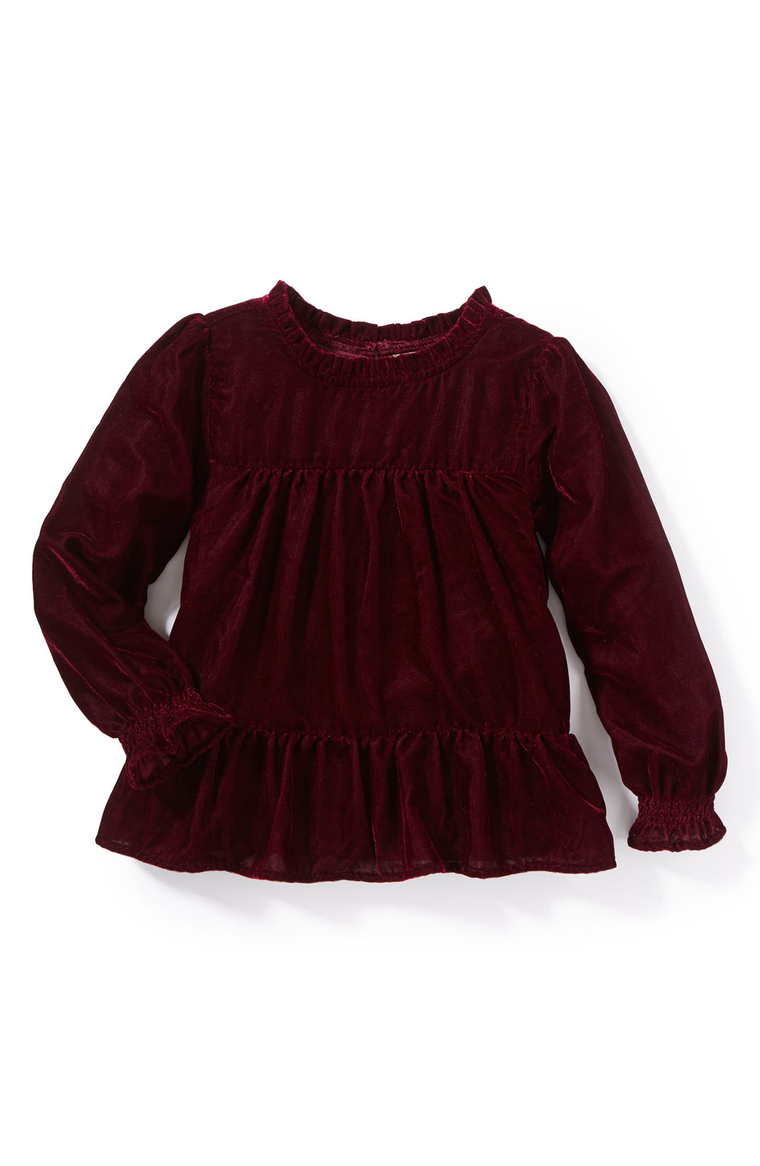 Main Image - Peek Demi Velvet Top (Toddler Girls, Little Girls & Big Girls)