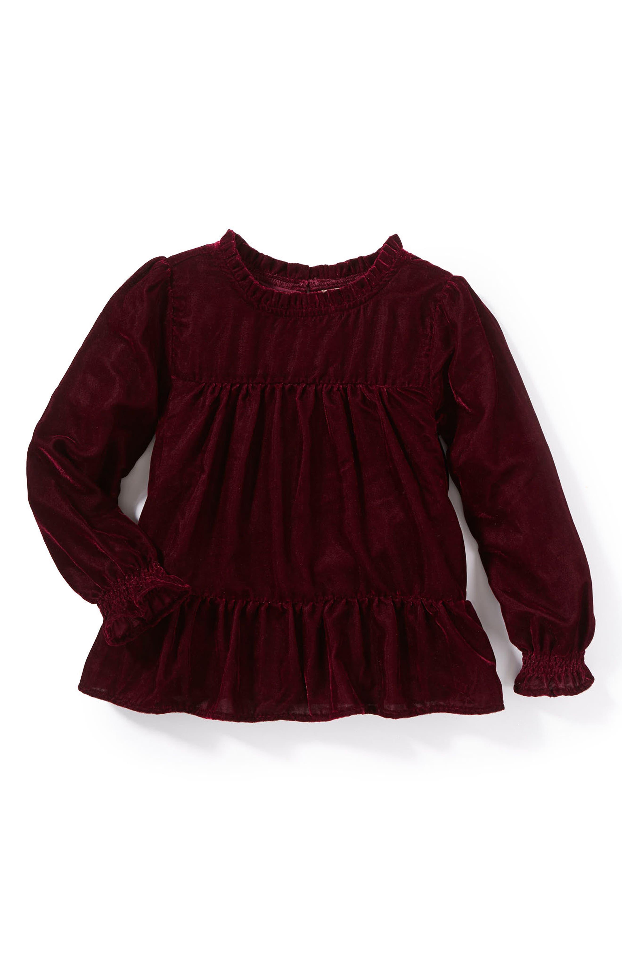 Peek Demi Velvet Top (Toddler Girls, Little Girls & Big Girls)