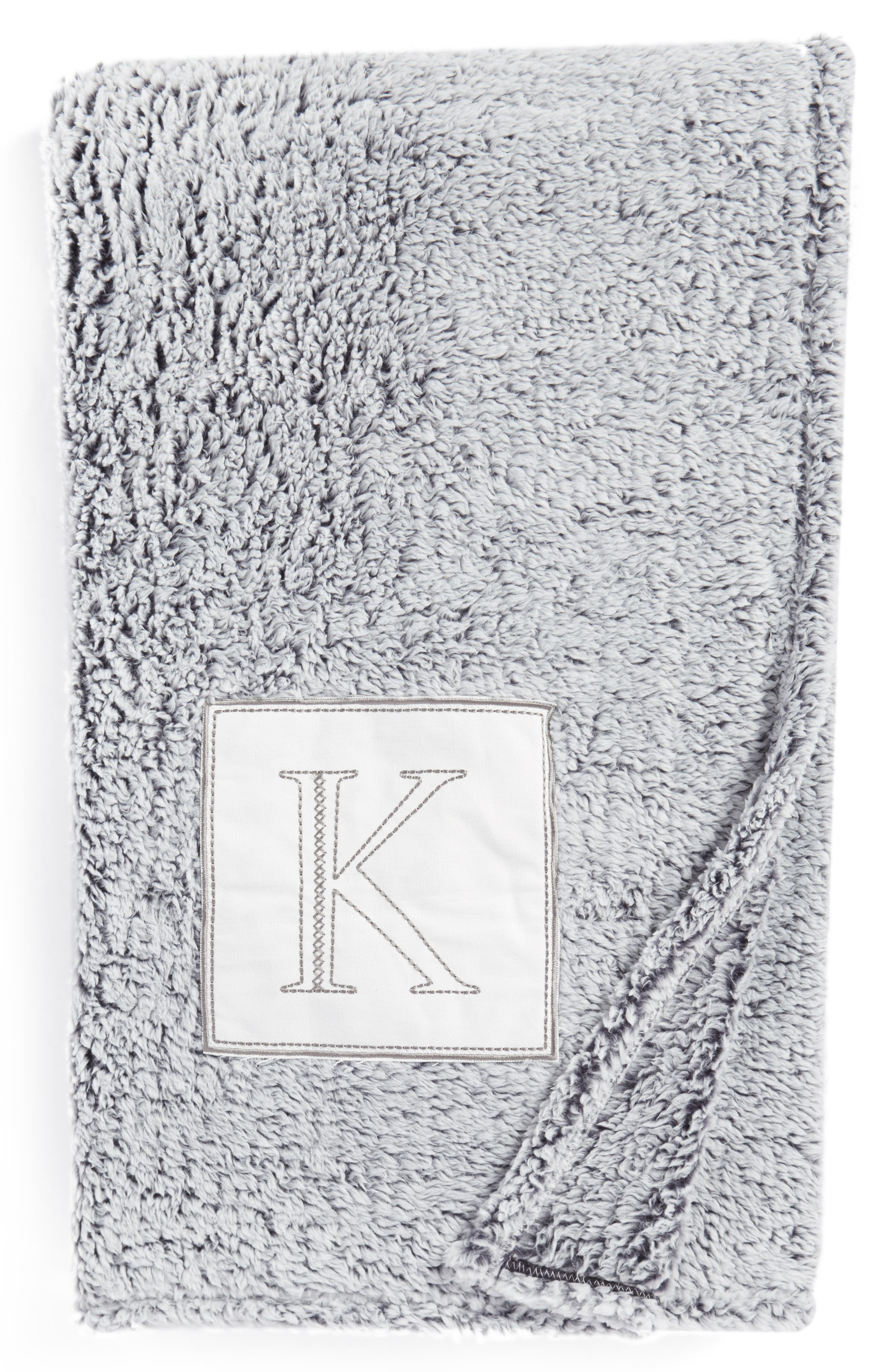 Levtex Frosted Monogram Throw Blanket