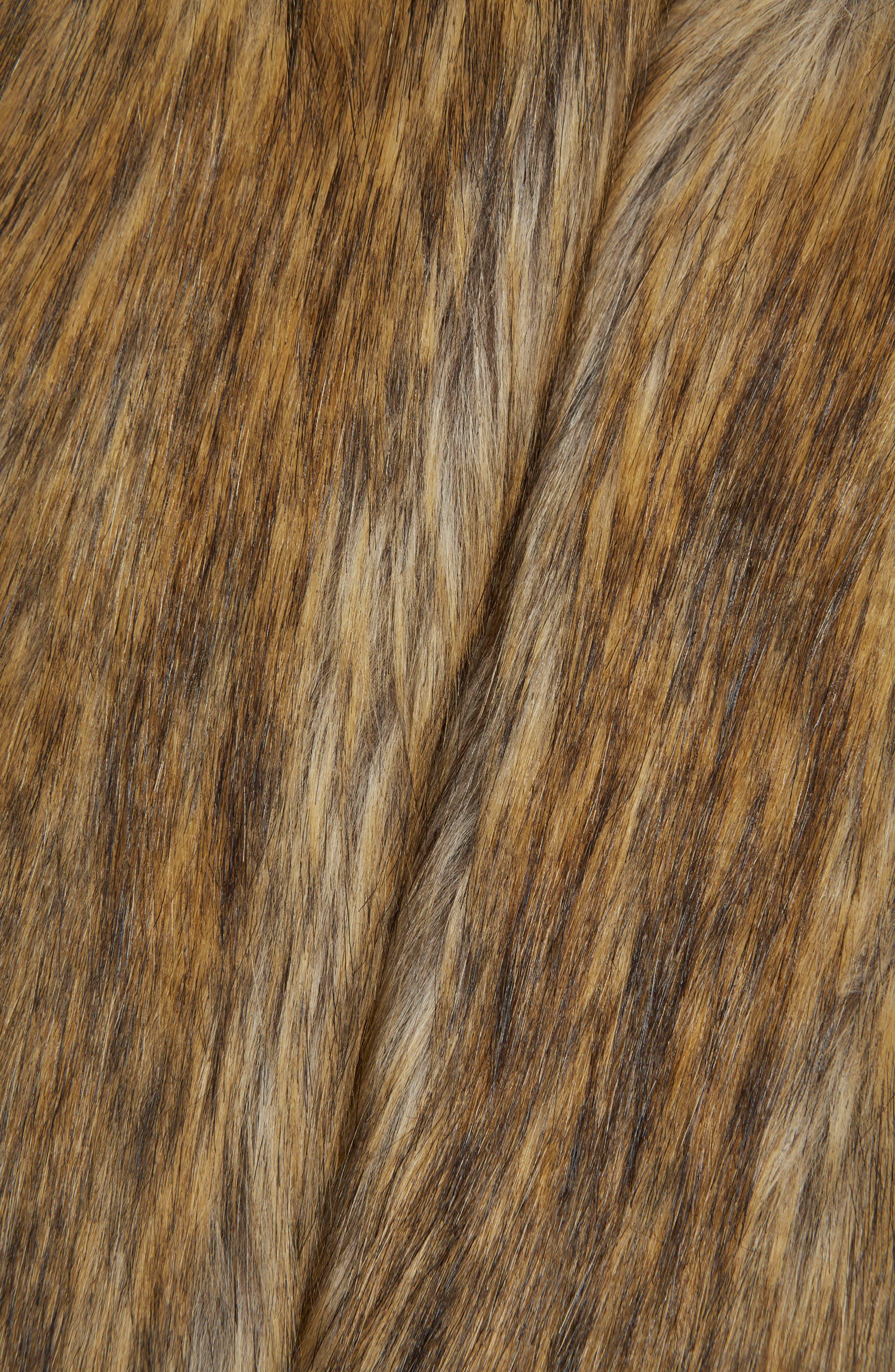 Alternate Image 6  - Topshop Chubby Faux Fur Coat