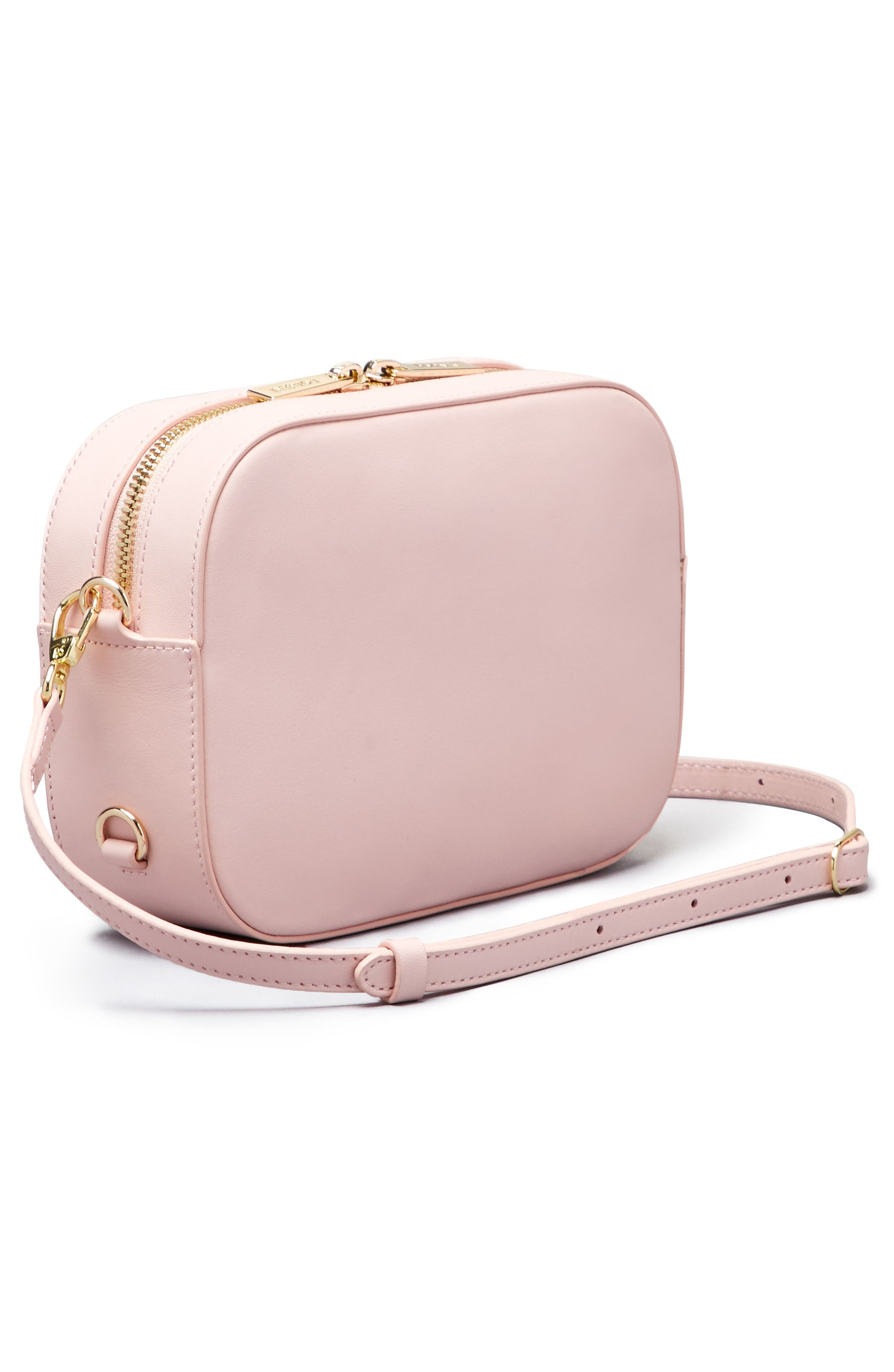 Bigger Leather Camera Bag,                             Alternate thumbnail 3, color,                             Cotton Candy