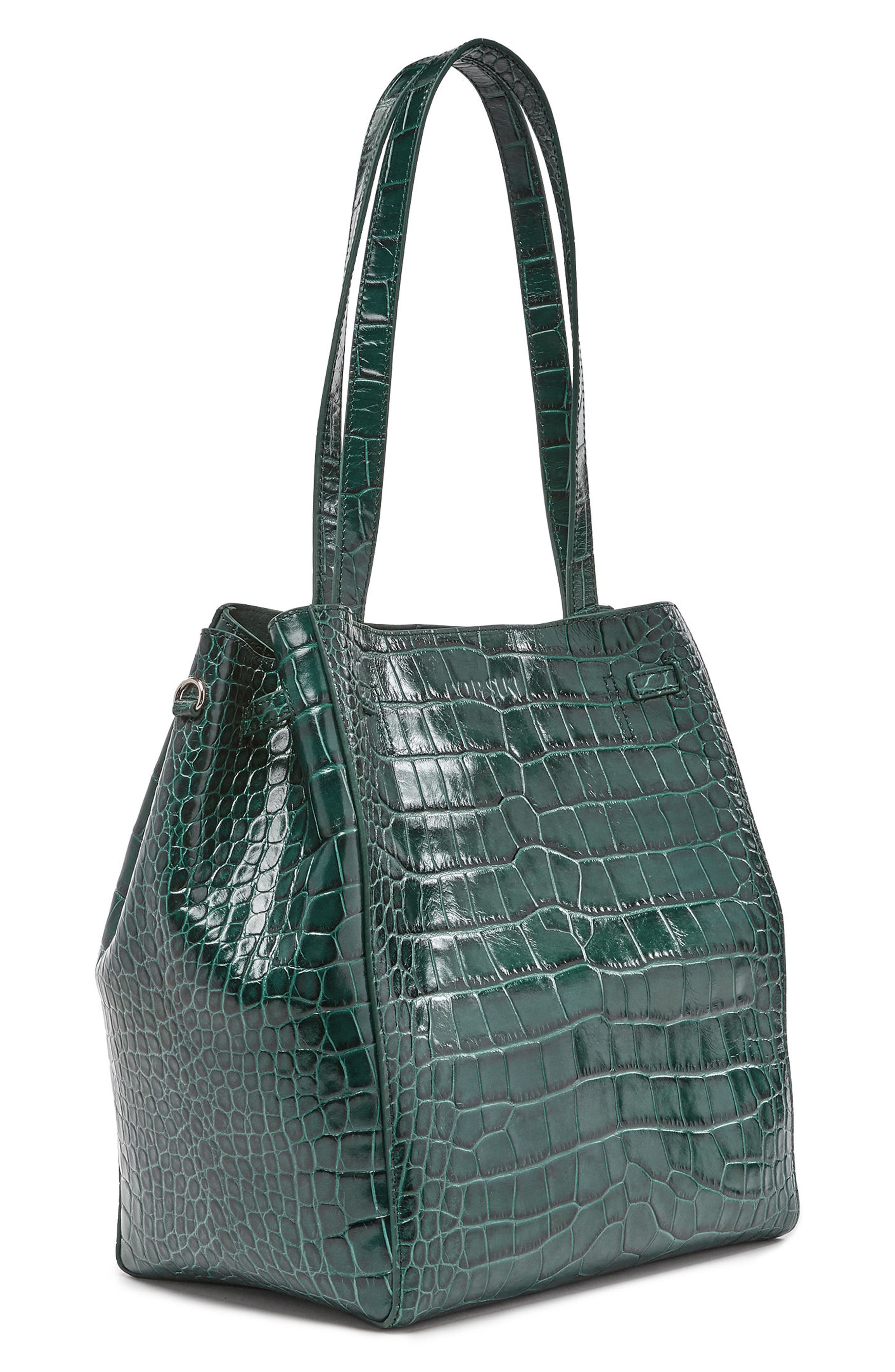 Alternate Image 3  - Pop & Suki Croc Embossed Carryall Tote (Nordstrom Exclusive)