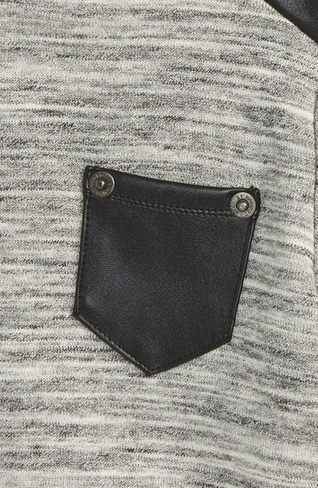 Moto Sweater,                             Alternate thumbnail 2, color,                             Grey Marle