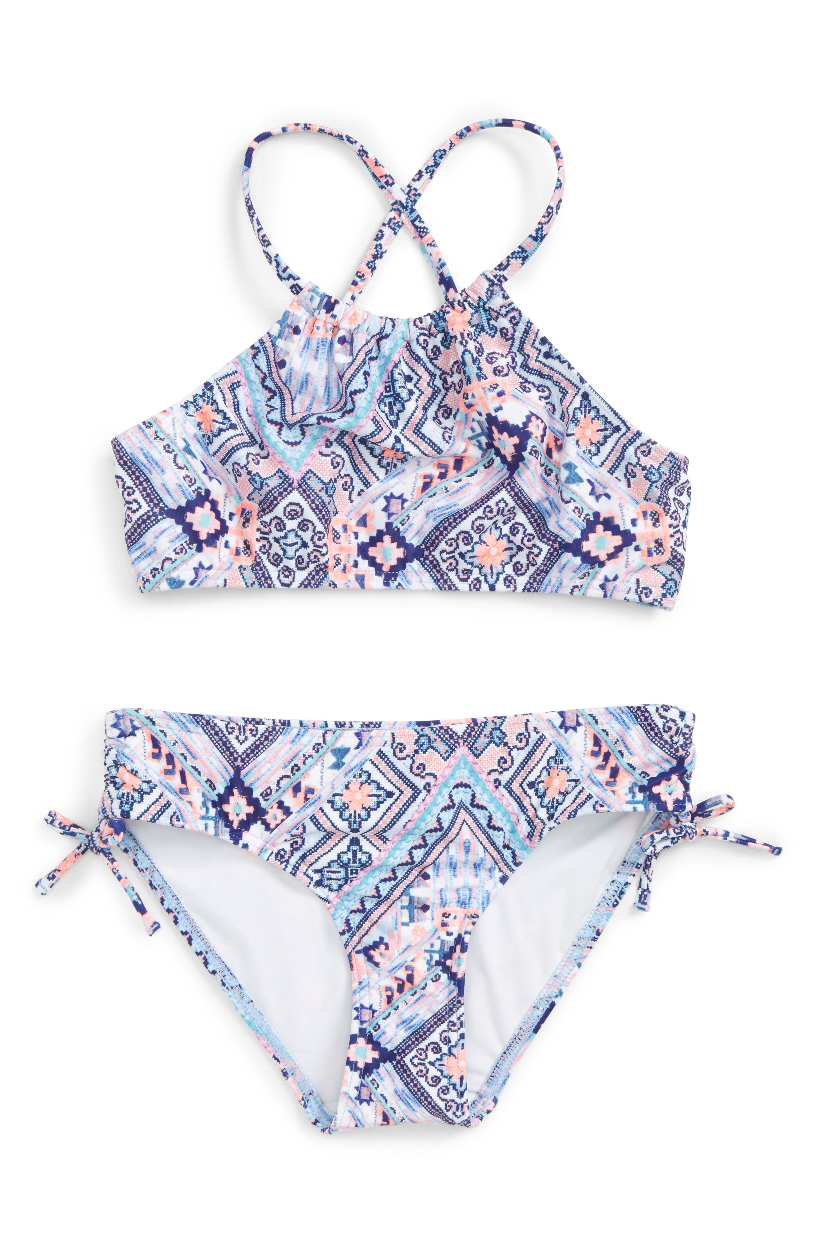 Main Image - Seafolly Moon Child Two-Piece Swimsuit (Big Girls)