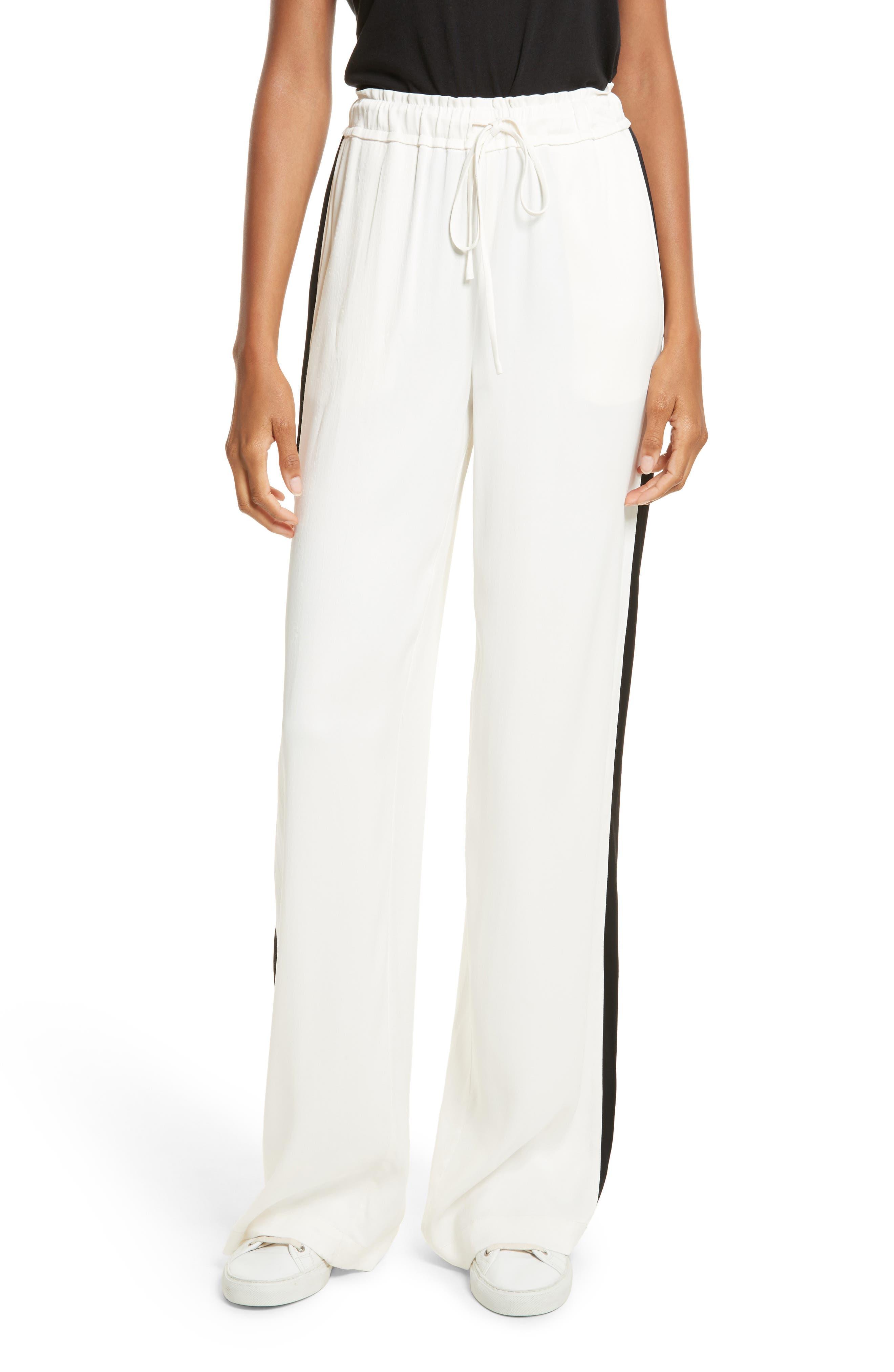 Wide Leg Pants,                         Main,                         color, Off White Multi