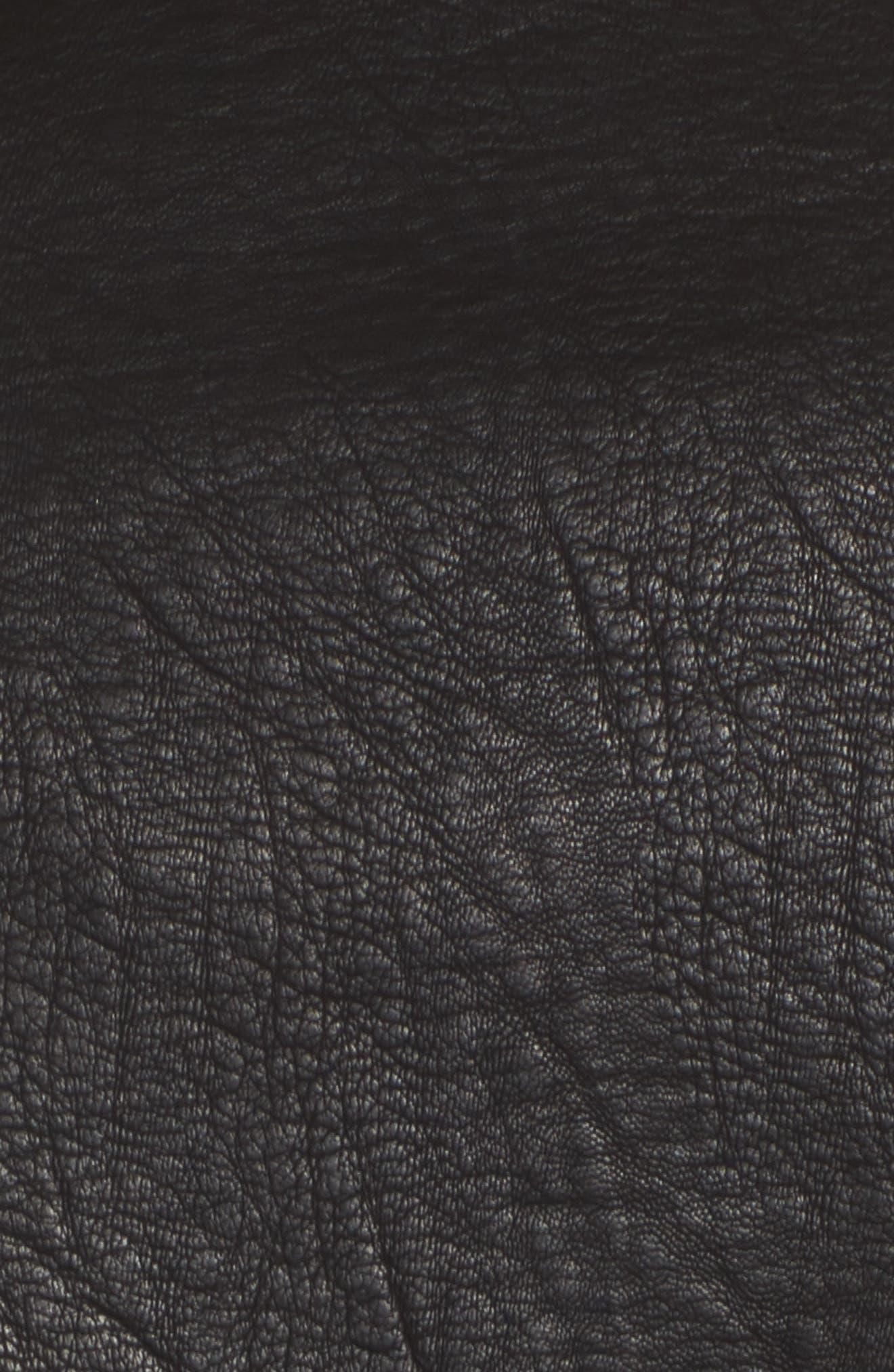 Embellished Faux Leather Moto Jacket,                             Alternate thumbnail 5, color,                             Crown Jewels