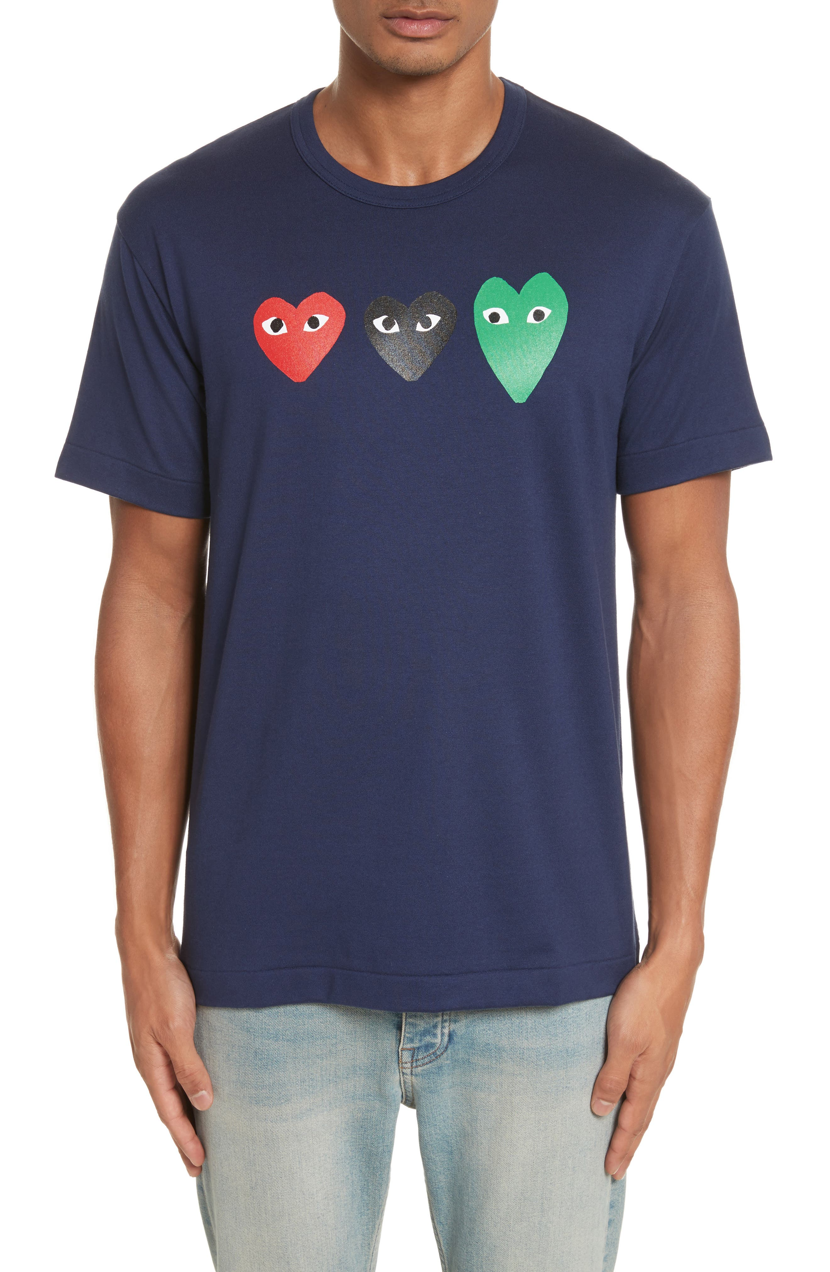 PLAY Graphic T-Shirt,                             Main thumbnail 1, color,                             Navy