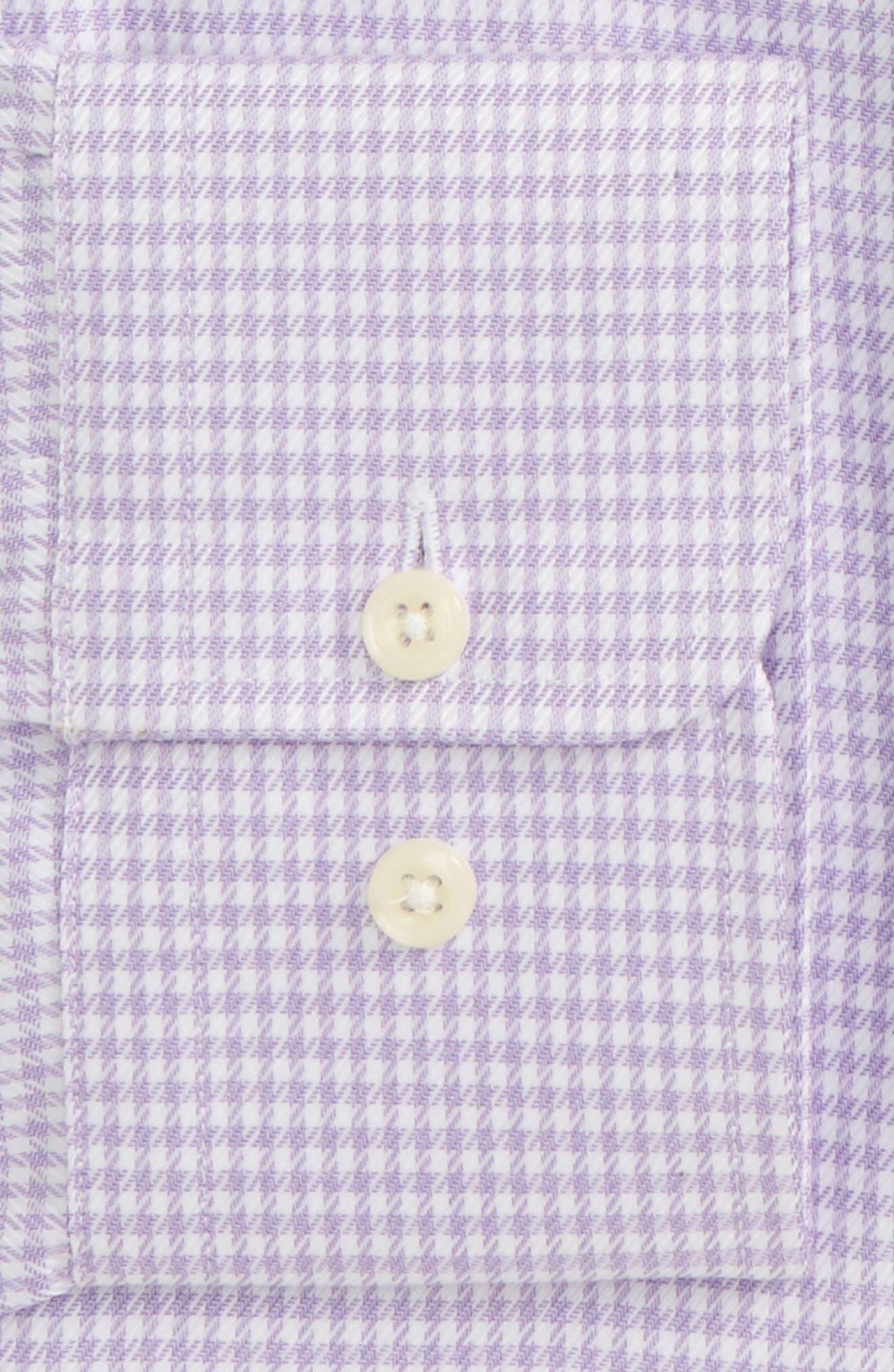 Trim Fit Houndstooth Dress Shirt,                             Alternate thumbnail 2, color,                             Lilac