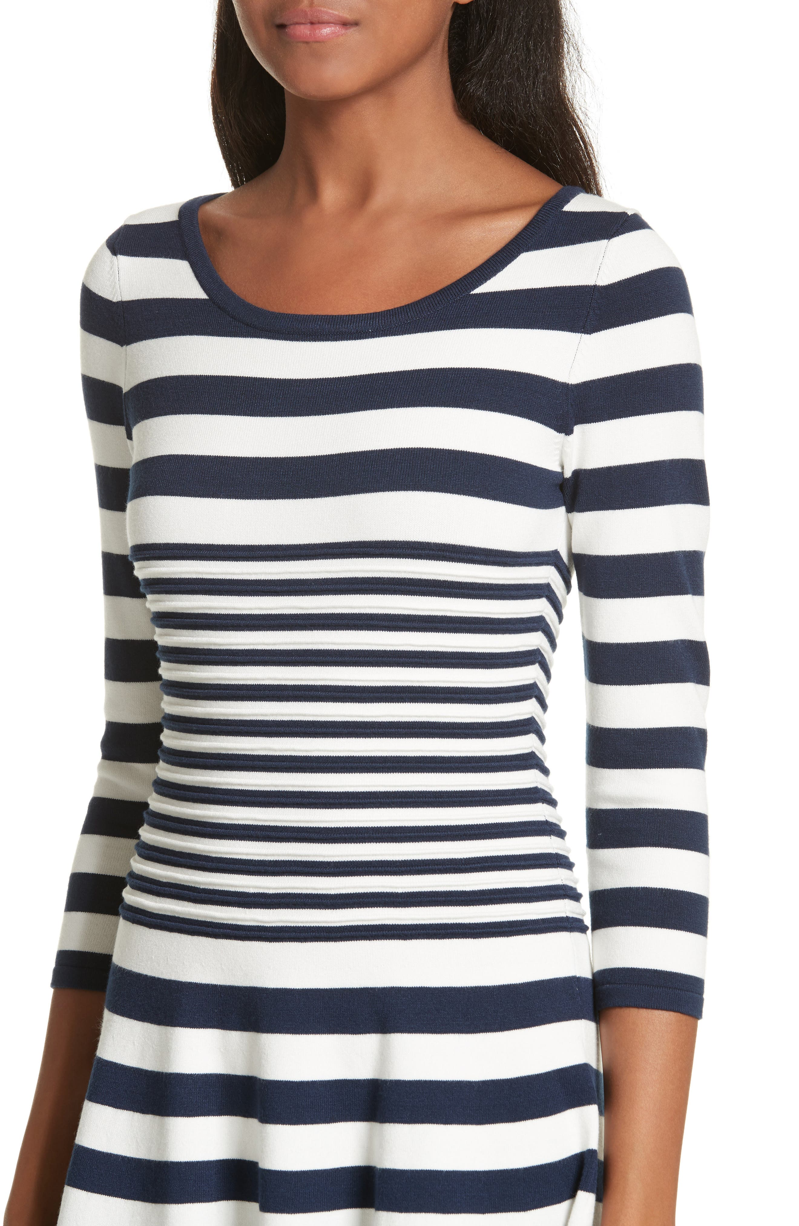 Alternate Image 4  - Milly Striped Ottoman Fit & Flare Dress