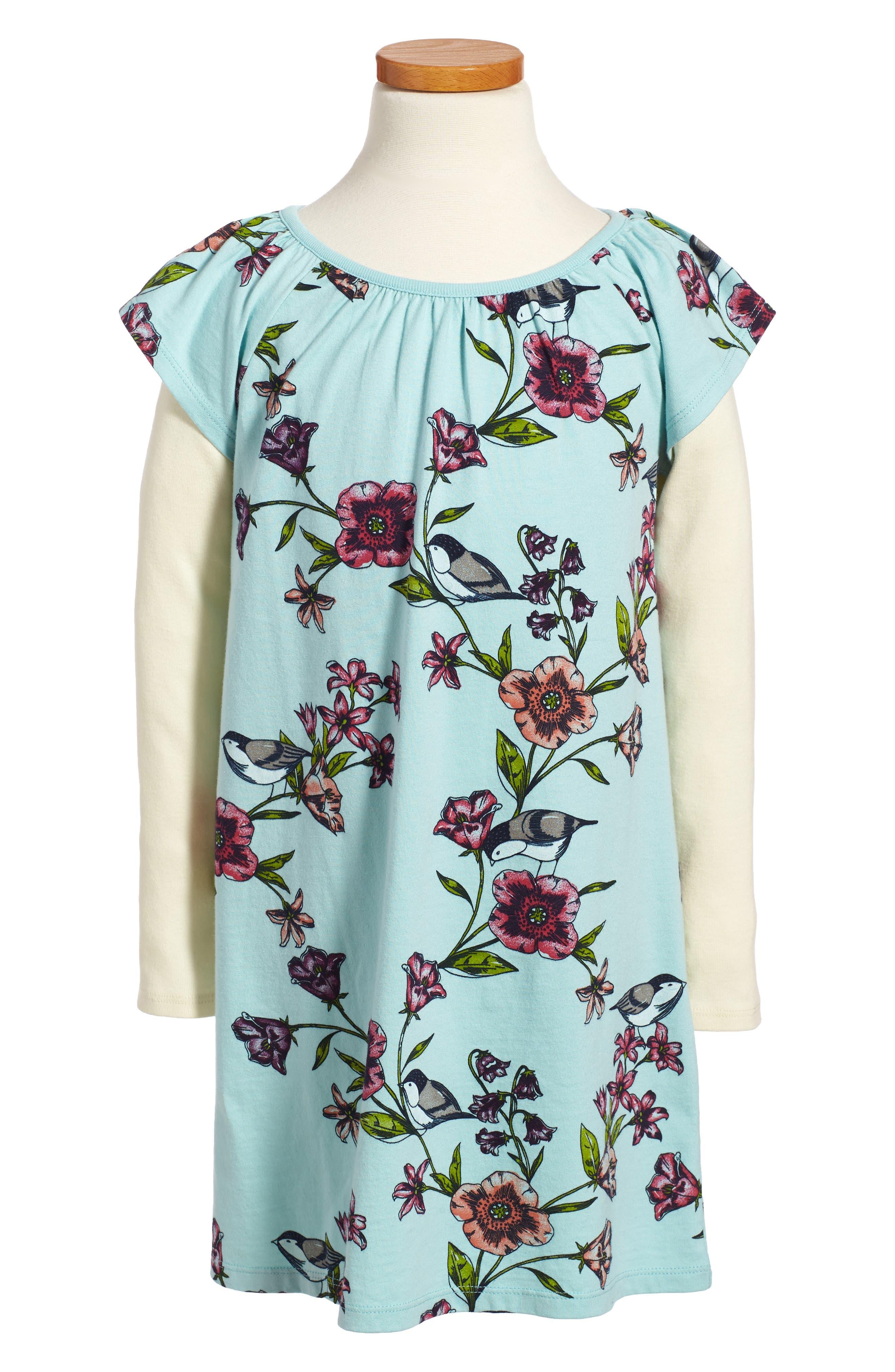 Tea Collection Glenna Flutter Dress (Toddler Girls, Little Girls & Big Girls)