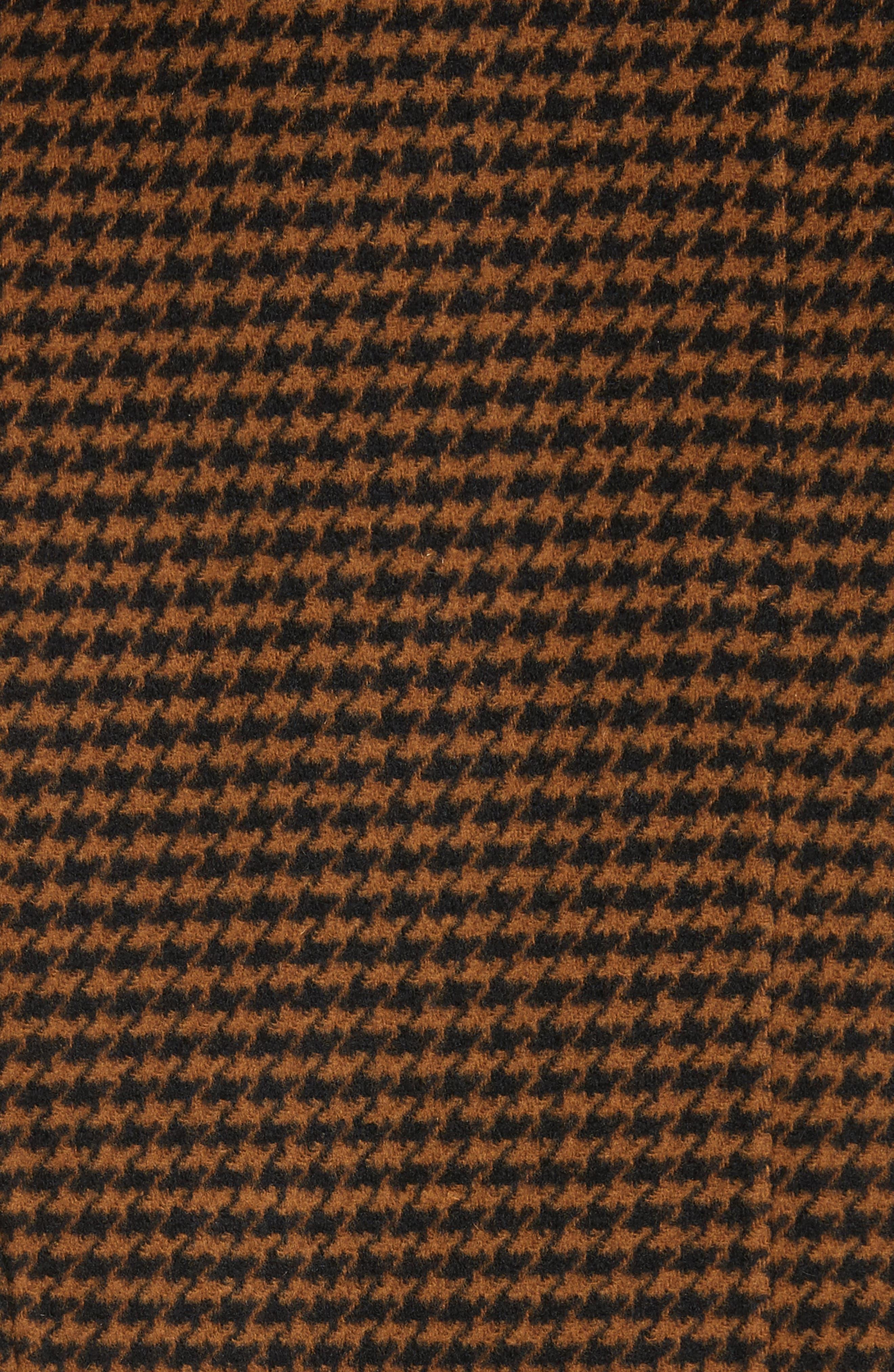 Darwen Reversible Wool & Cashmere Coat,                             Alternate thumbnail 6, color,                             Brown/Black