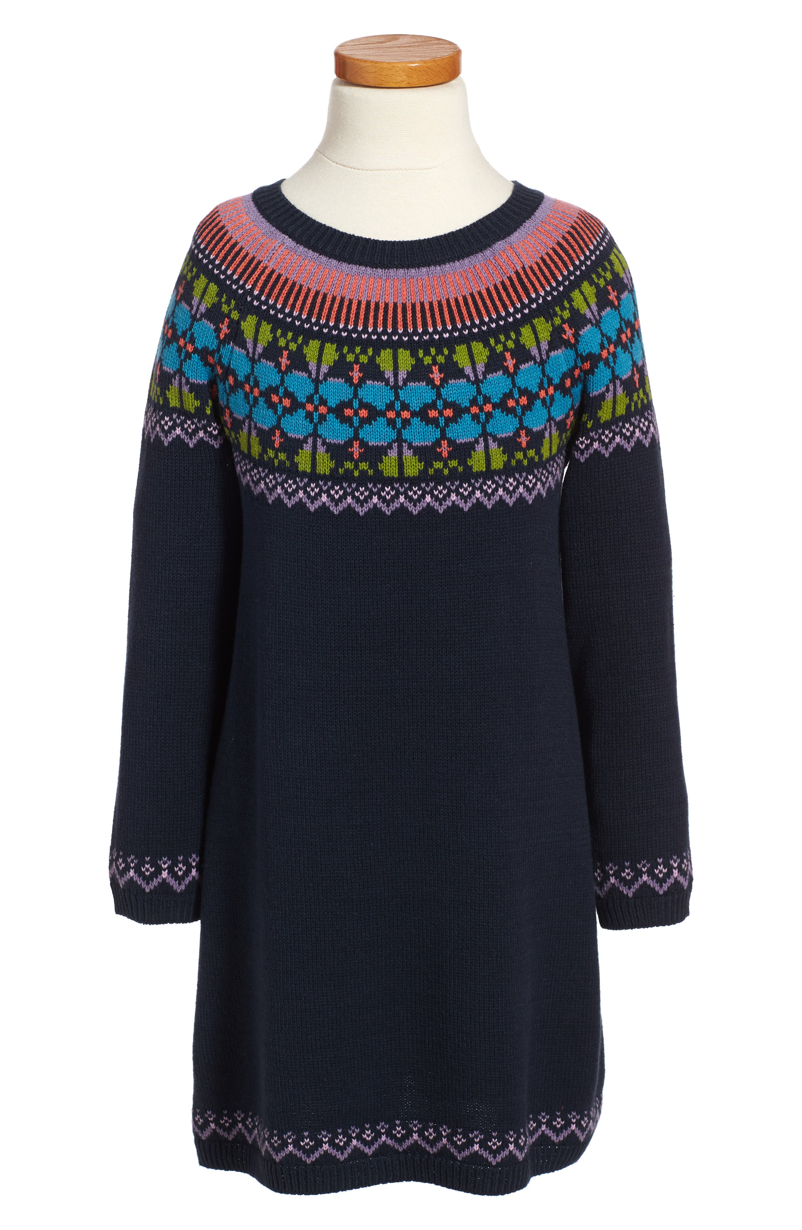 Tea Collection Sheep Rock Fair Isle Sweater Dress (Toddler Girls ...