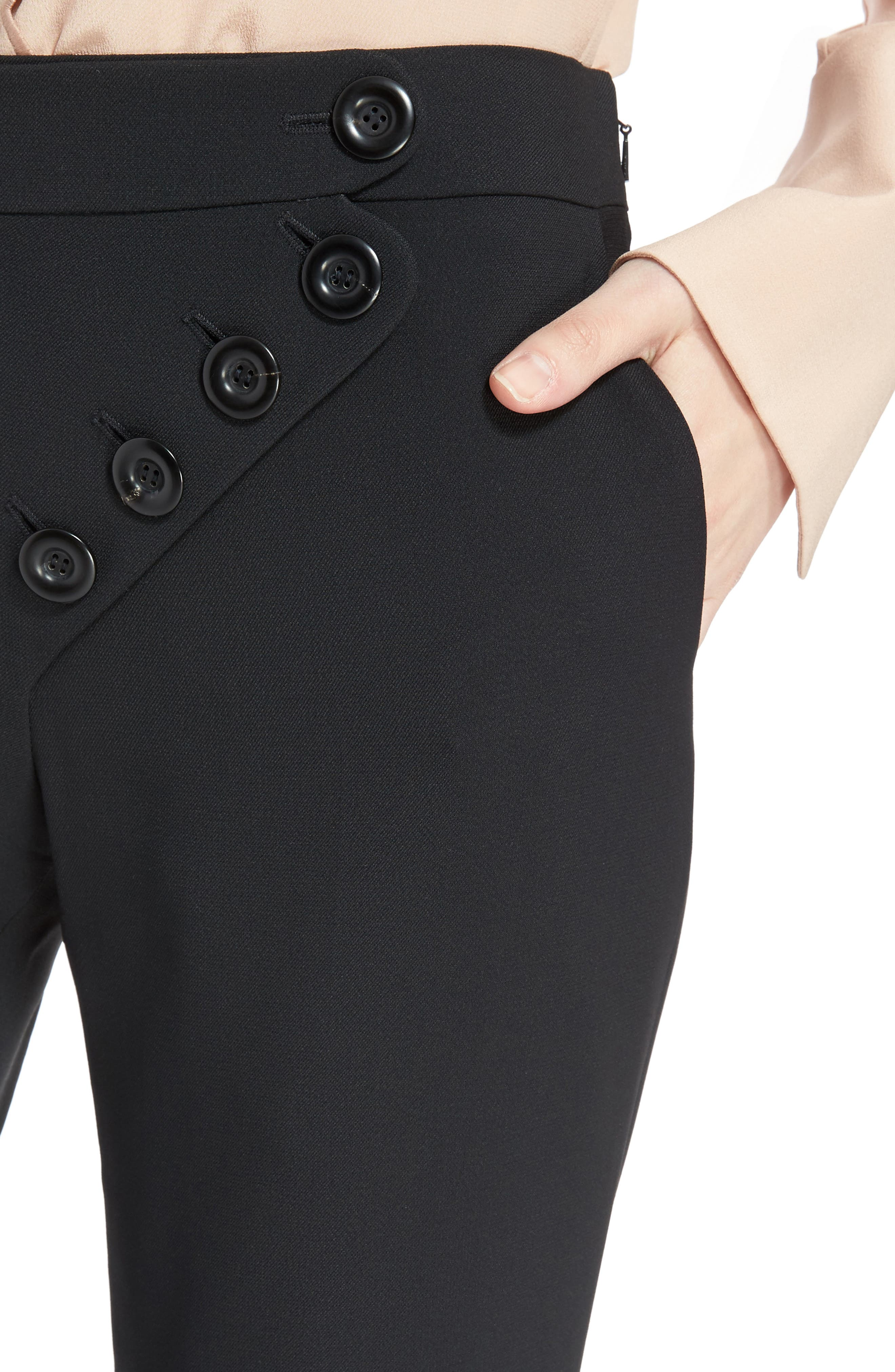 Alternate Image 4  - Chloé Asymmetrical Button Flare Cady Pants