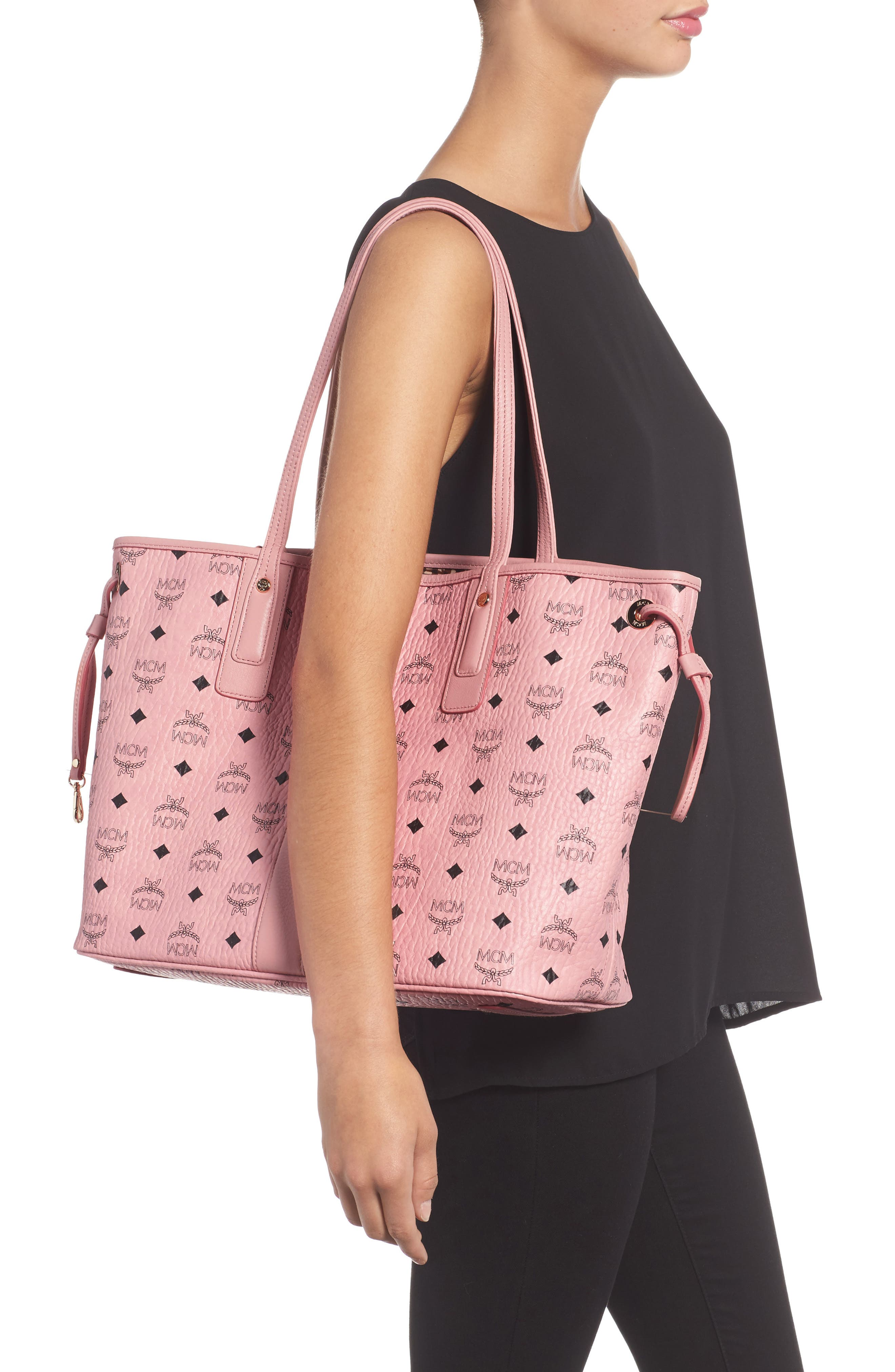 Alternate Image 2  - MCM Medium Liz Reversible Visetos Coated Canvas Shopper