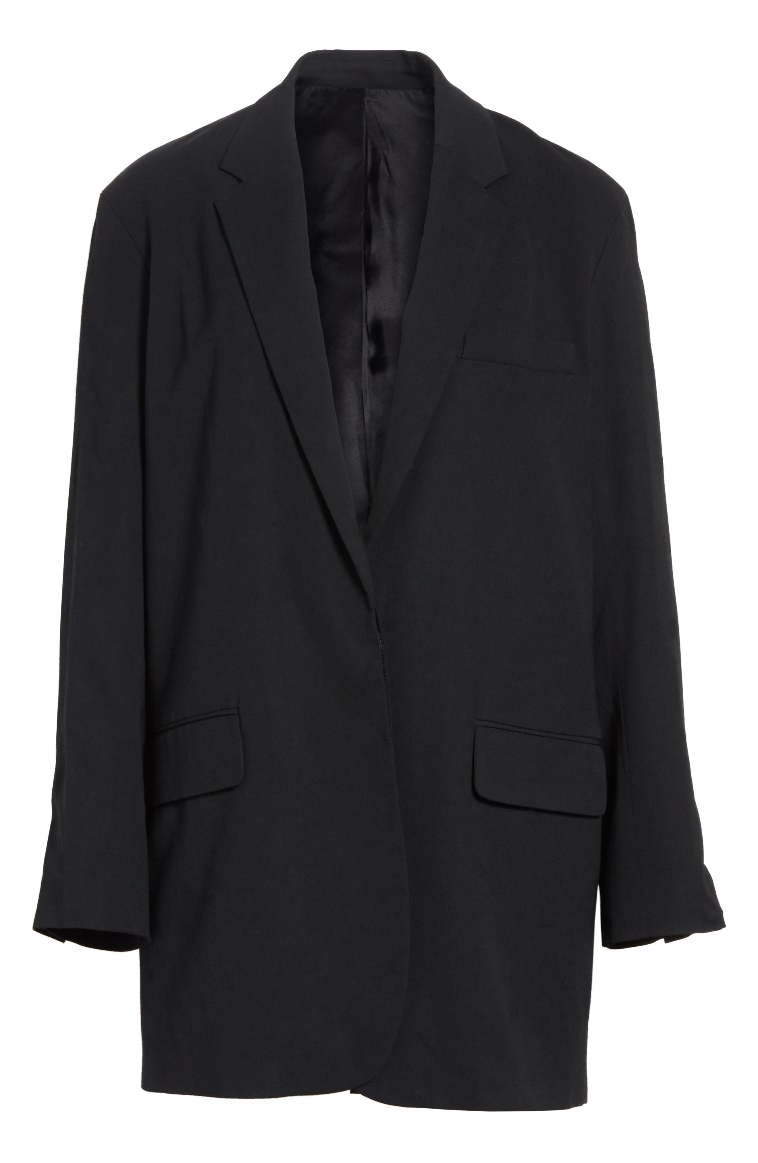 Soft Blazer,                             Alternate thumbnail 6, color,                             Black