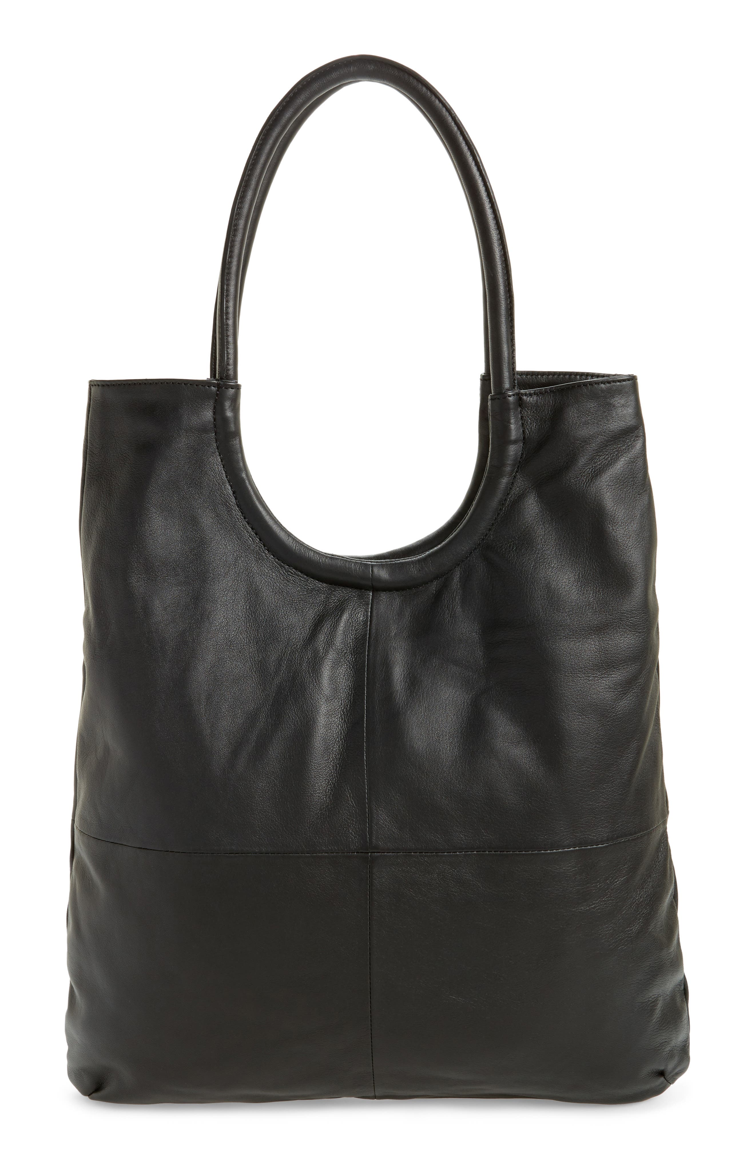 Topshop Oversized Top Handle Leather Tote
